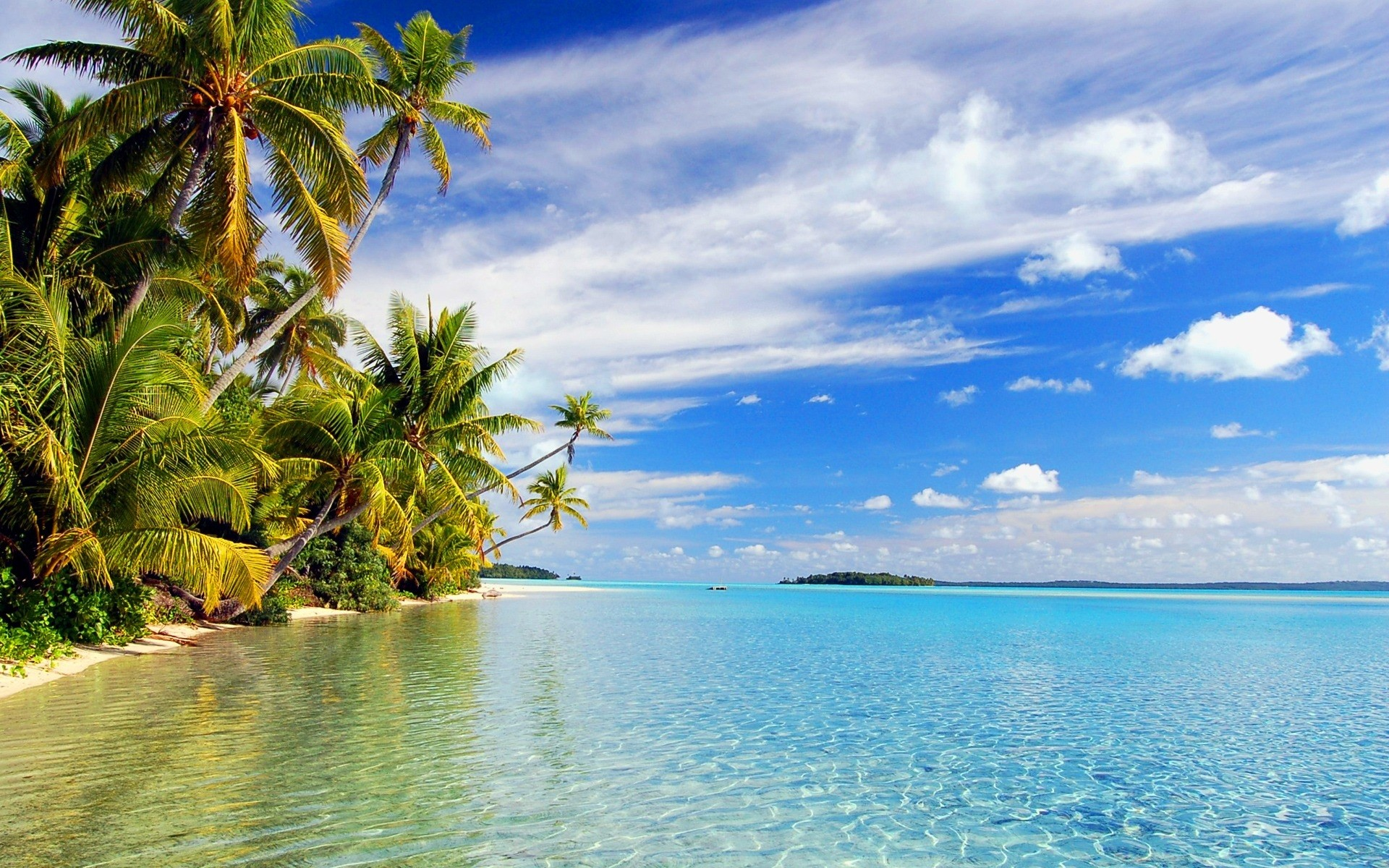 1920x1200 tropical, wallpaper, beach, island, wallpapers, paradise, reflections
