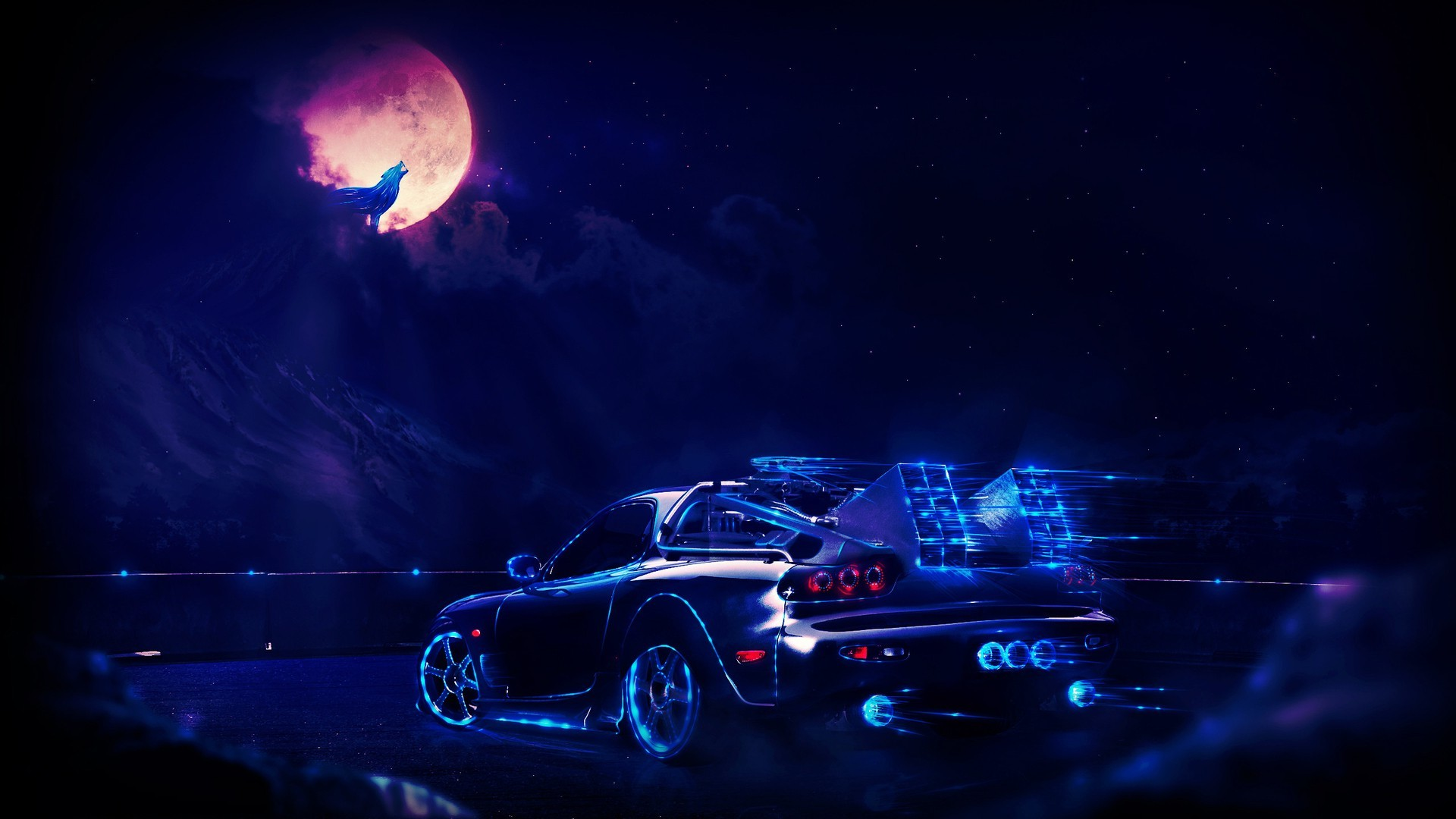 1920x1080 artwork, Concept Art, Fantasy Art, Car, Neon Wallpapers HD / Desktop and  Mobile Backgrounds