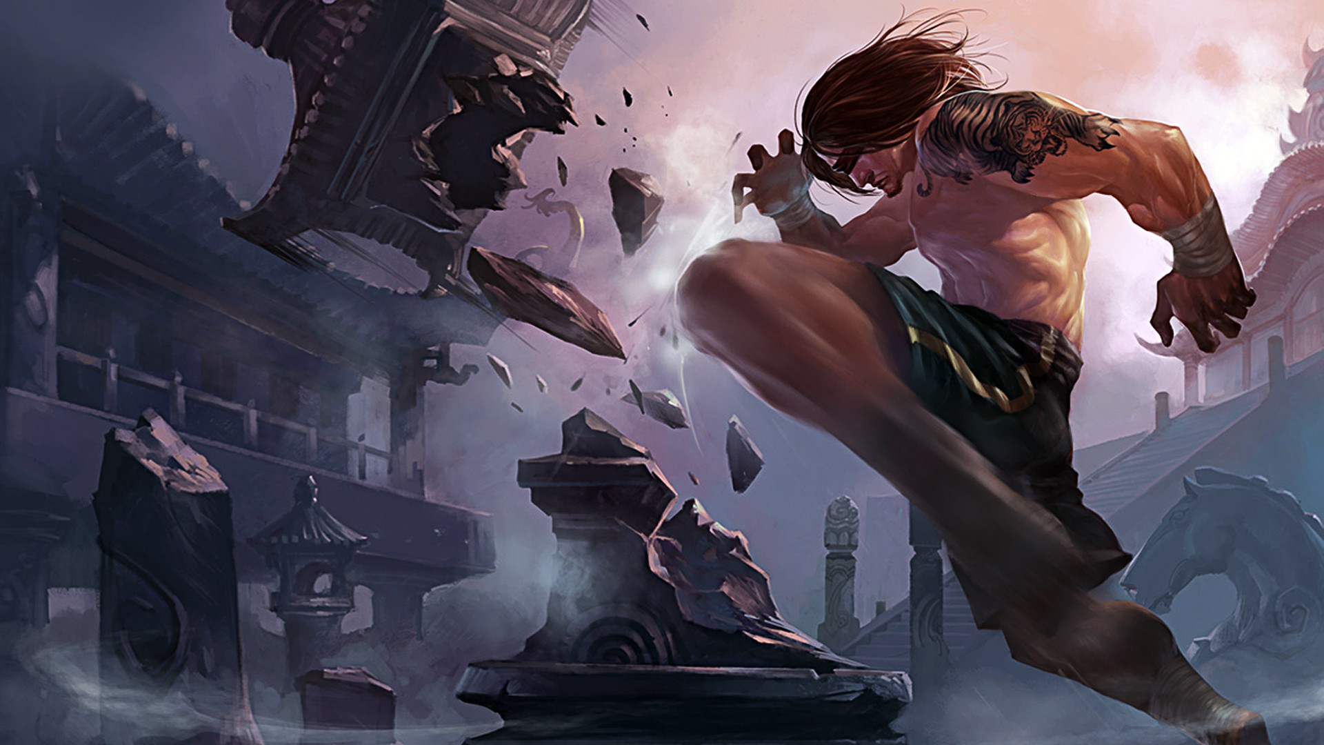 1920x1080 lee sin the blind monk league of legends