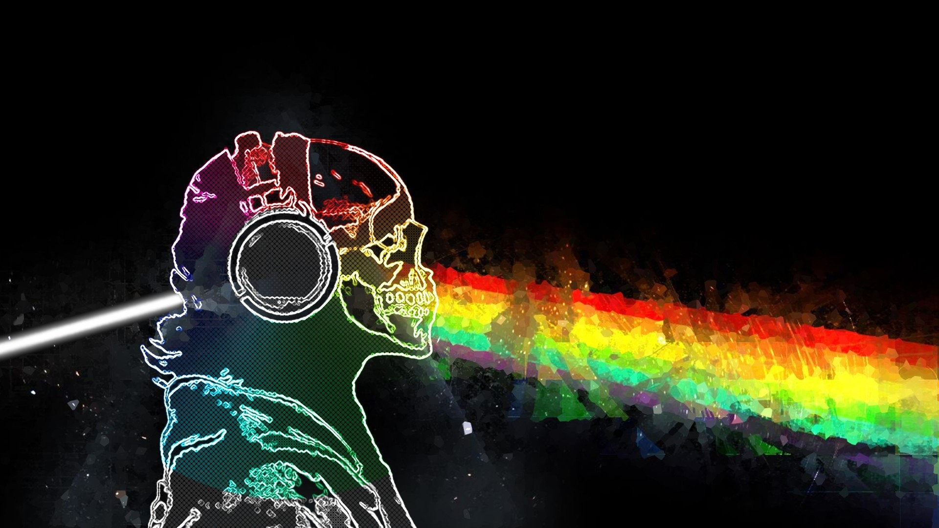 1920x1080  skull and bones rainbows prisma music pink floyd wallpaper and  background JPG 301 kB
