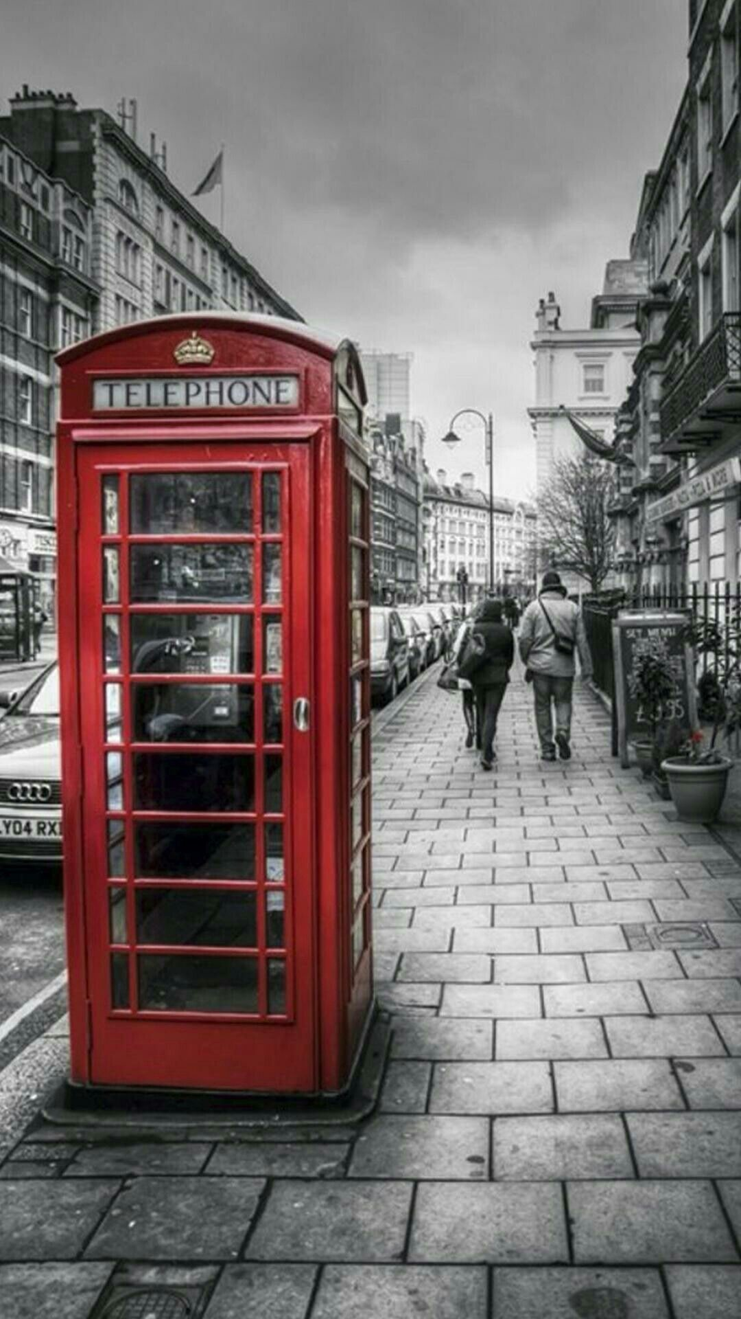 1080x1920 London Telephone Booth, London Street, London Calling, London England,  Iphone Wallpaper,