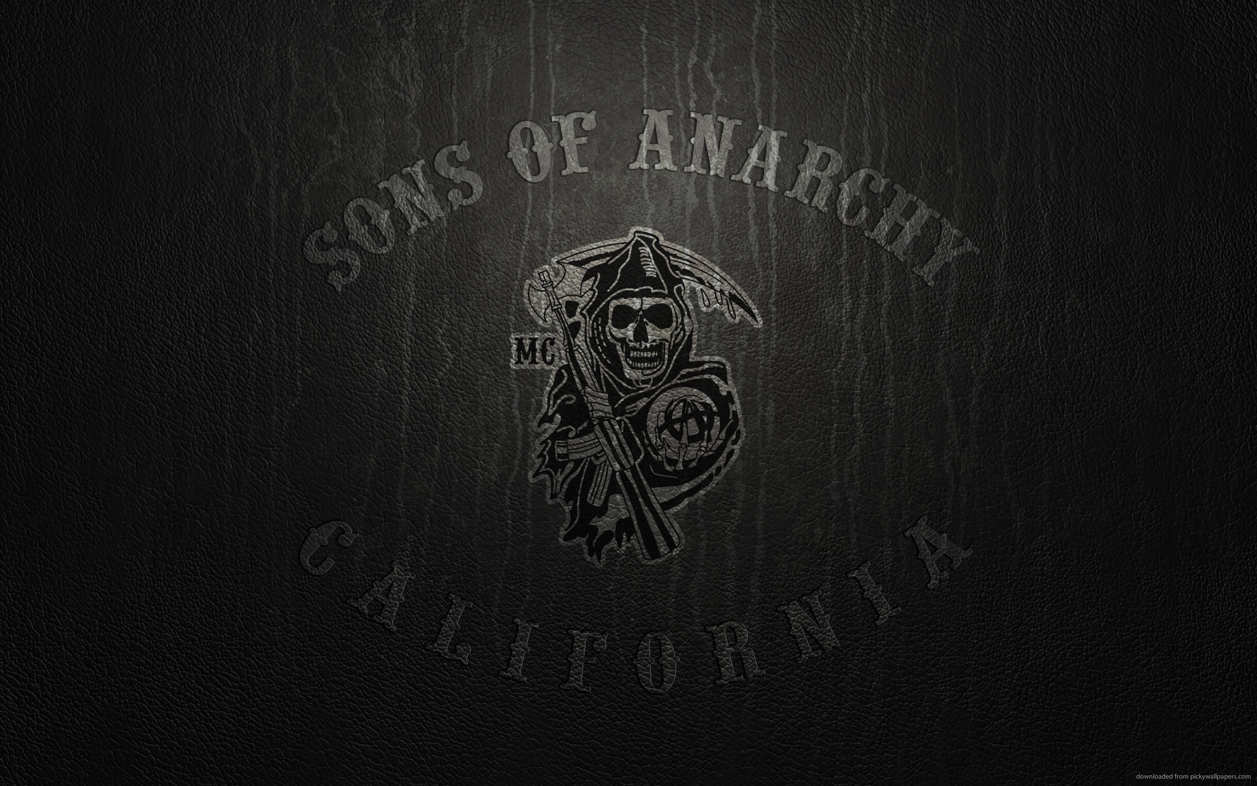 2560x1600  Sons Of Anarchy Logo On Leather for