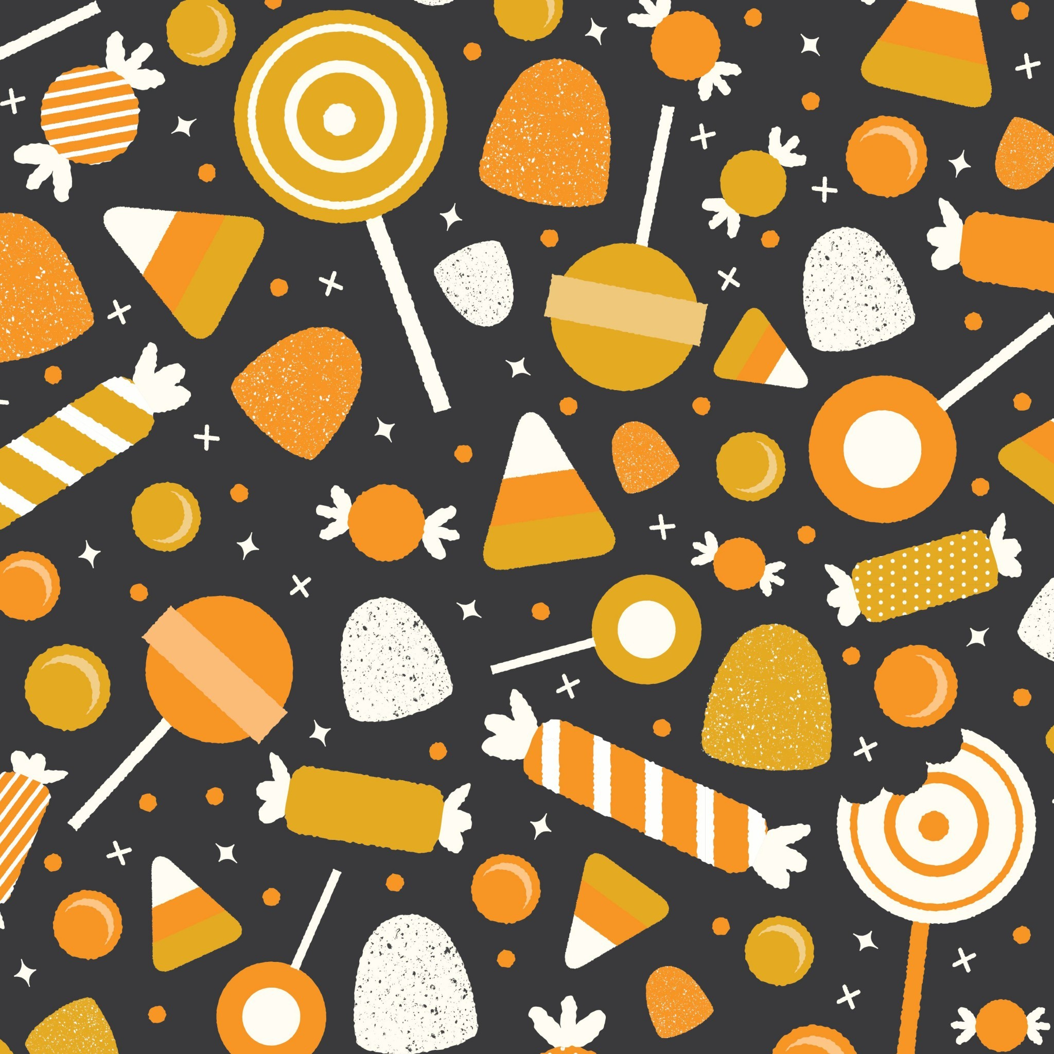 2048x2048 Halloween candy. Tap image for more fun pattern wallpapers for ... Halloween  Candy Tap Image For More Fun Pattern Wallpapers For