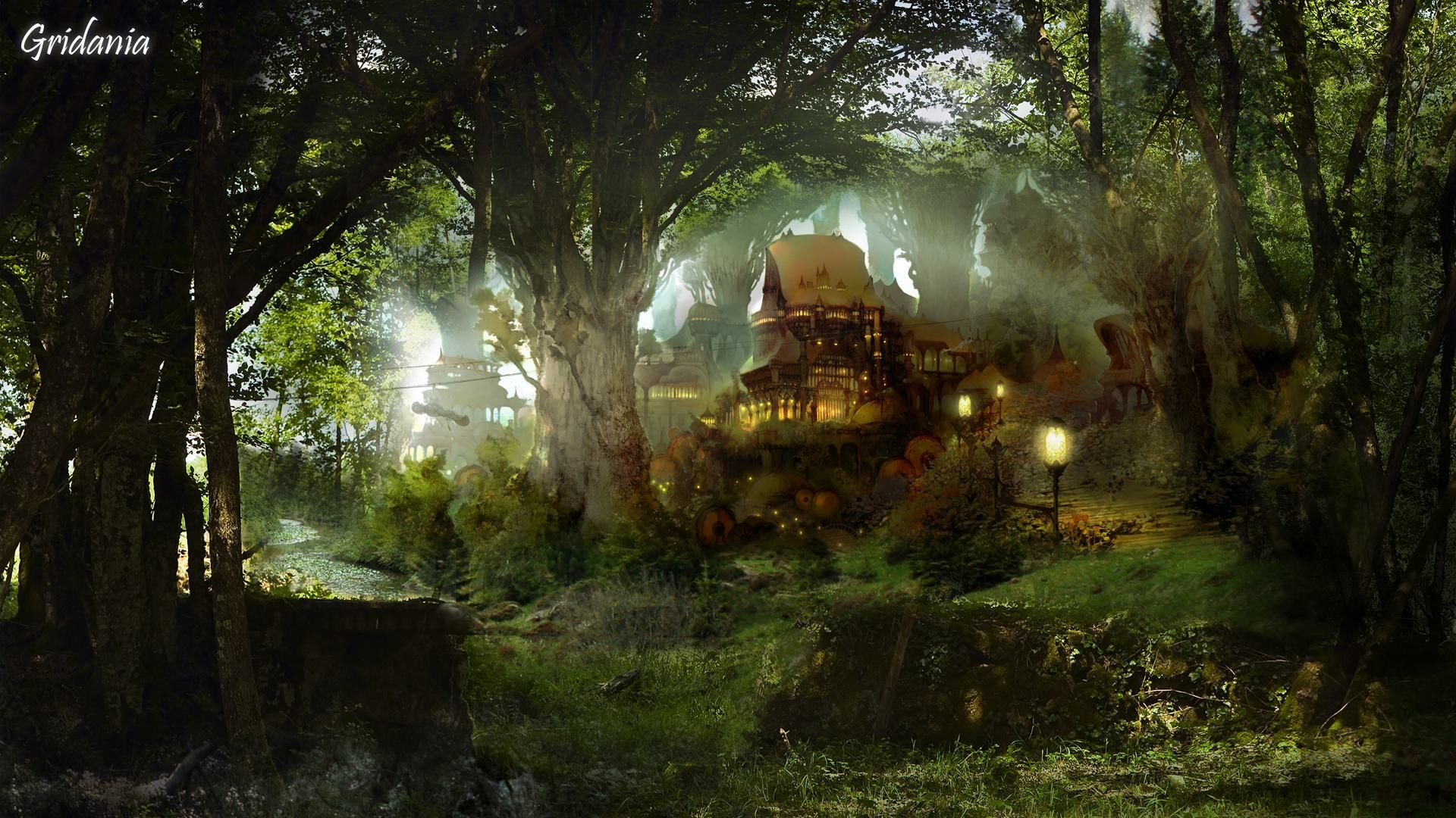 1920x1080 Artistic - House Artistic Fantasy Cottage Forest Wallpaper