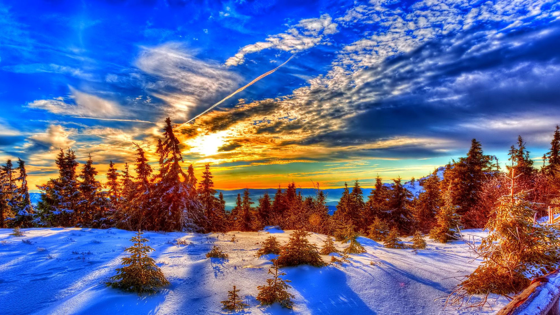Winter Sunset HD Wallpaper (50+ Images
