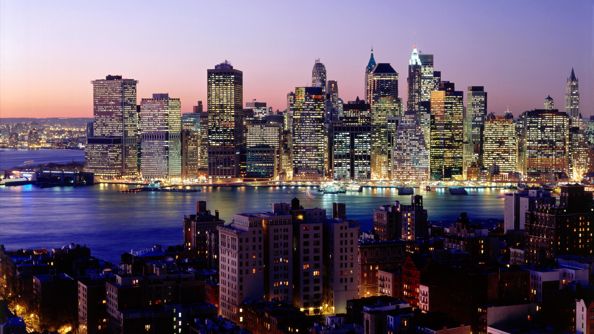 1920x1080 Download Background - Twilight Sky, New York City, New York - Free Cool  Backgrounds and Wallpapers for your Desktop Or Laptop.