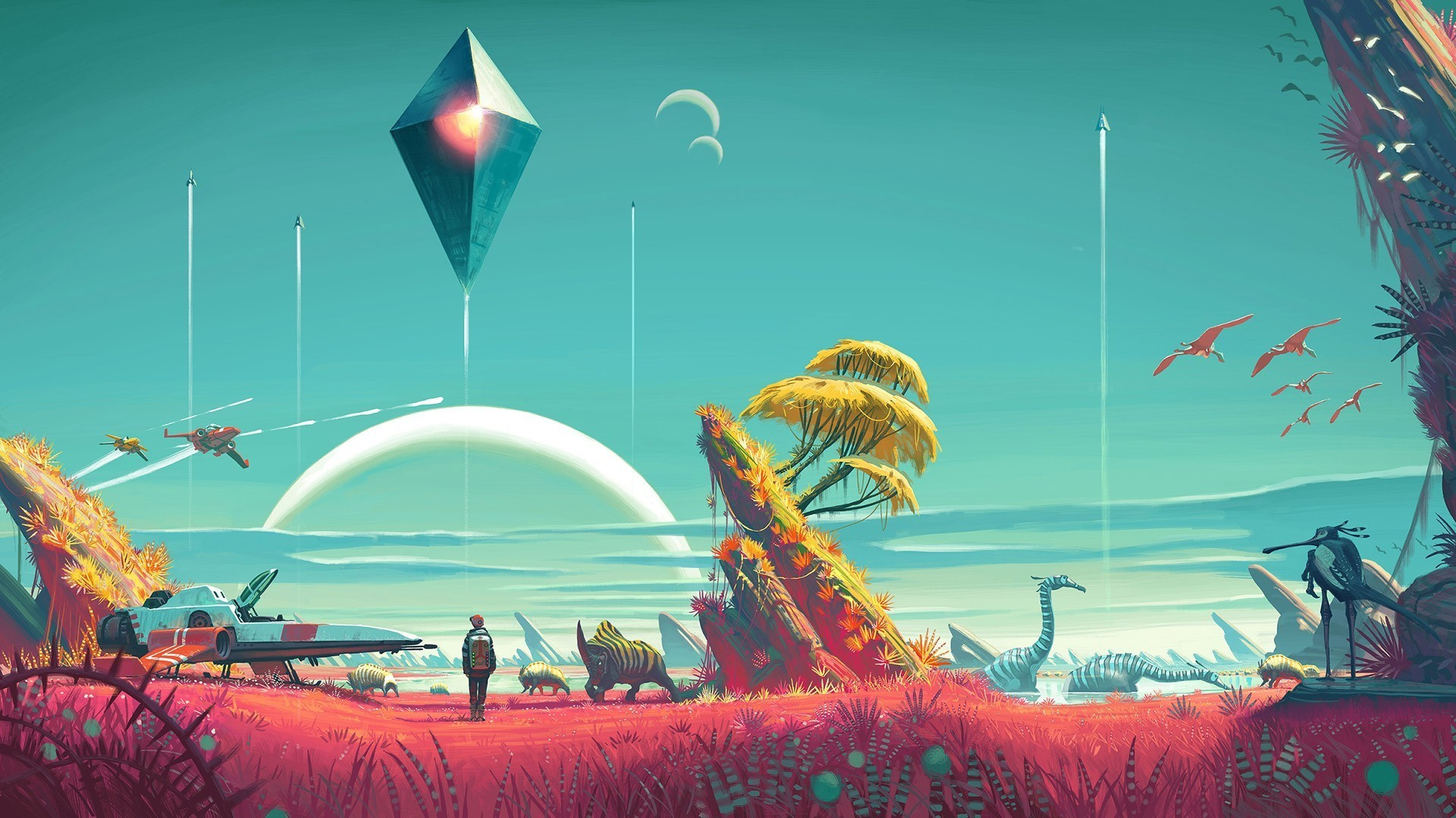 1920x1080 video Games No Mans Sky Wallpapers HD Desktop and Mobile