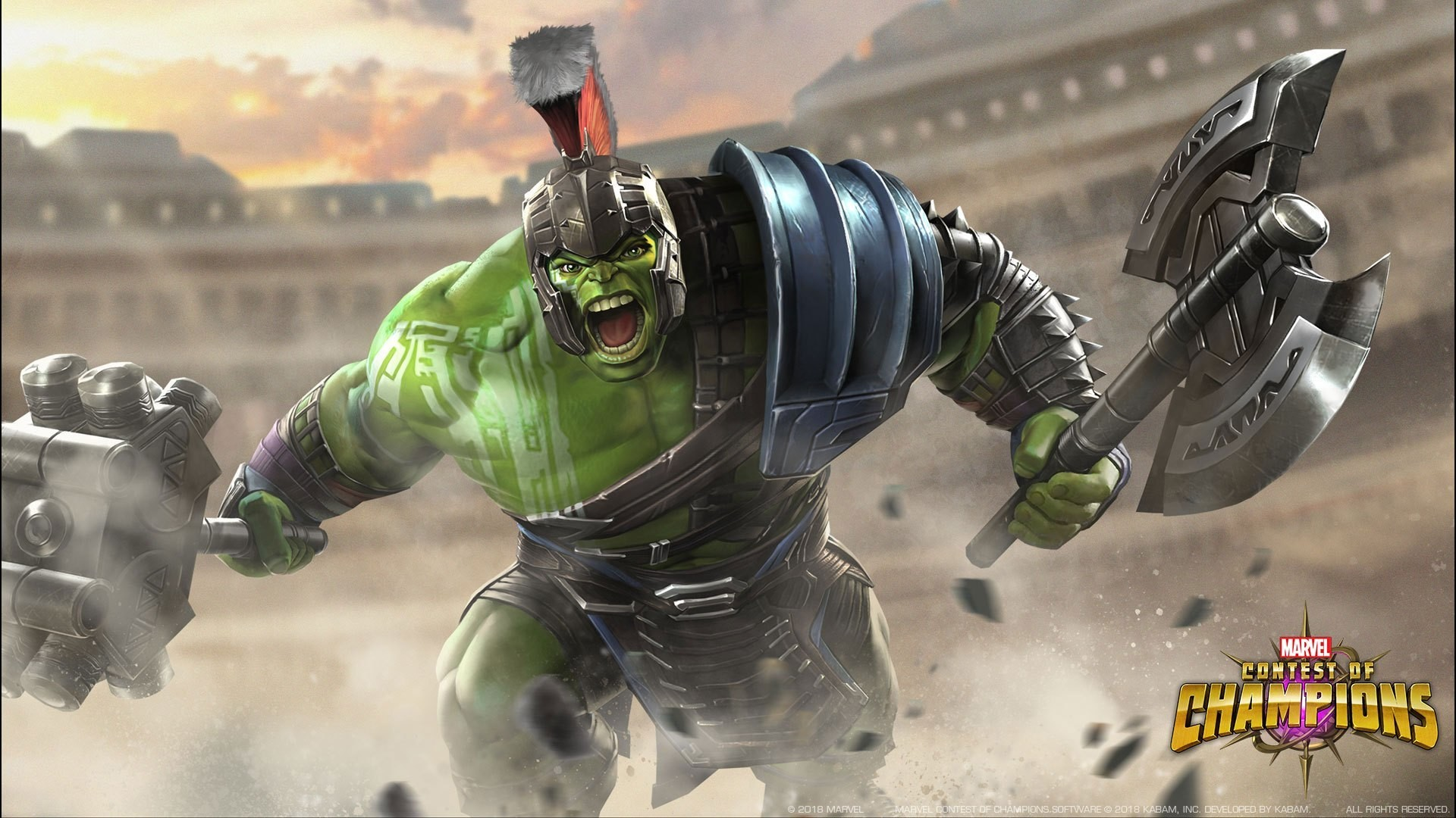 1920x1080  Hulk (Ragnarok) Rampaes Into Marvel Contest of Champions -  Graphic Policy