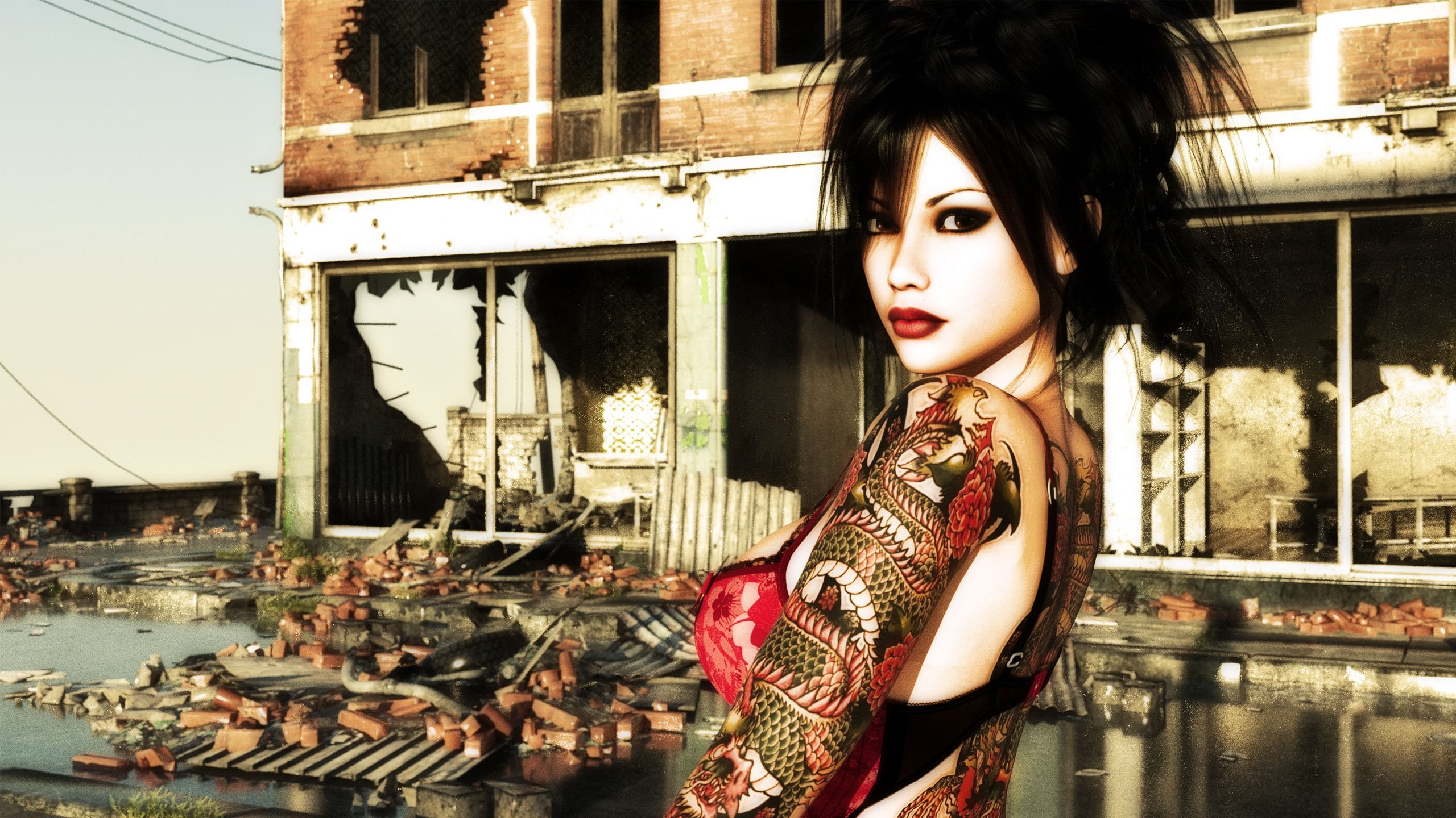 2560x1440 Tattoo Girl HD 763316 ...