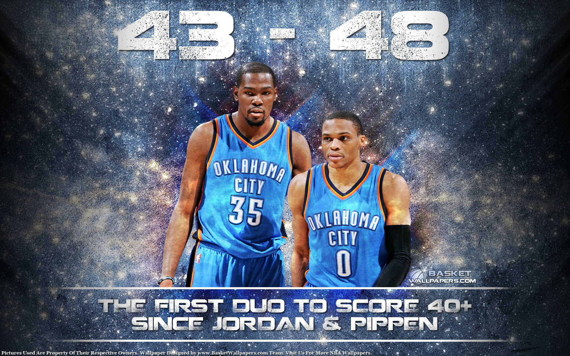 1920x1200 Durant Westbrook 40-40 Game 2015 Wallpaper ...