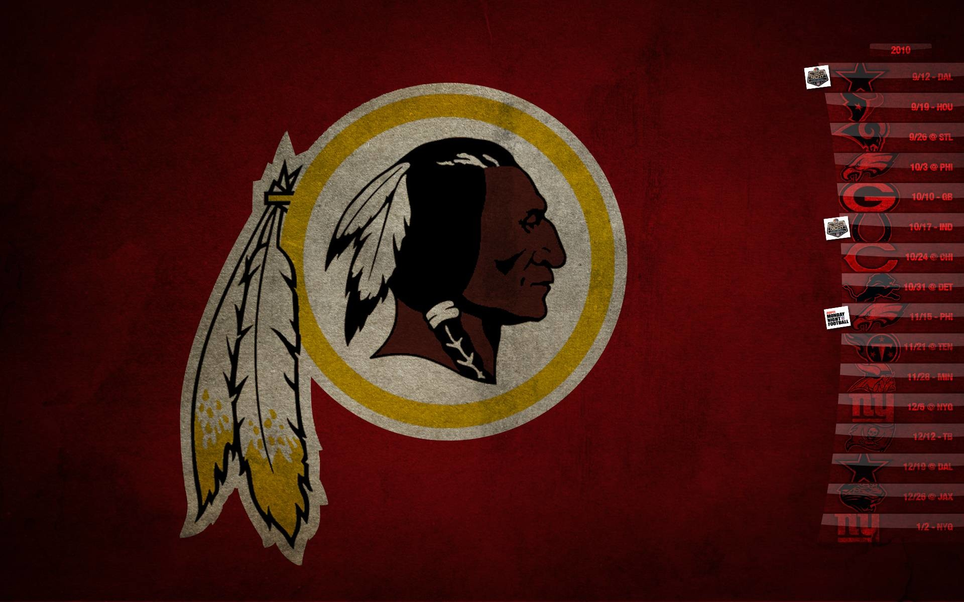 1920x1200 Washington Redskins Live Wallpaper