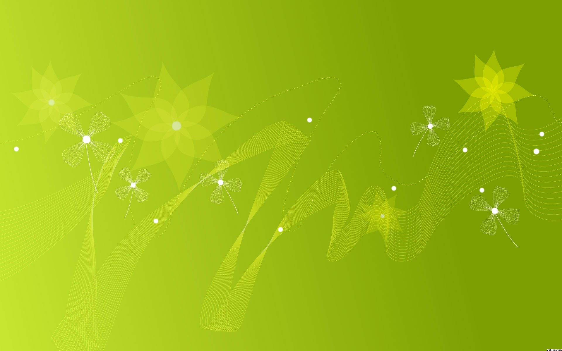 1920x1200 Green flowers PPT Backgrounds