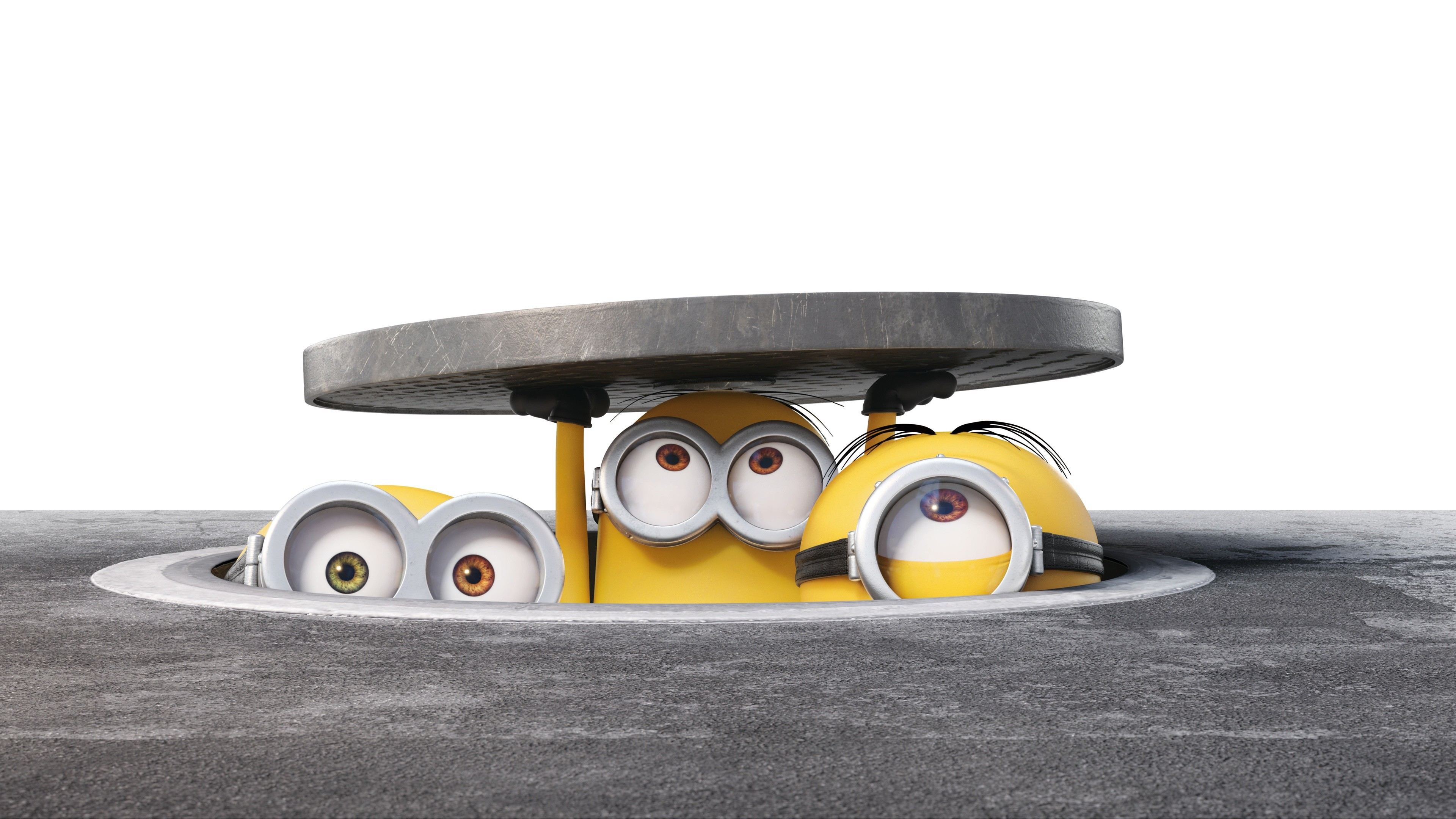3840x2160 HD Background New Cute Minions Hiding Bob Stuart Kevin Wallpaper .