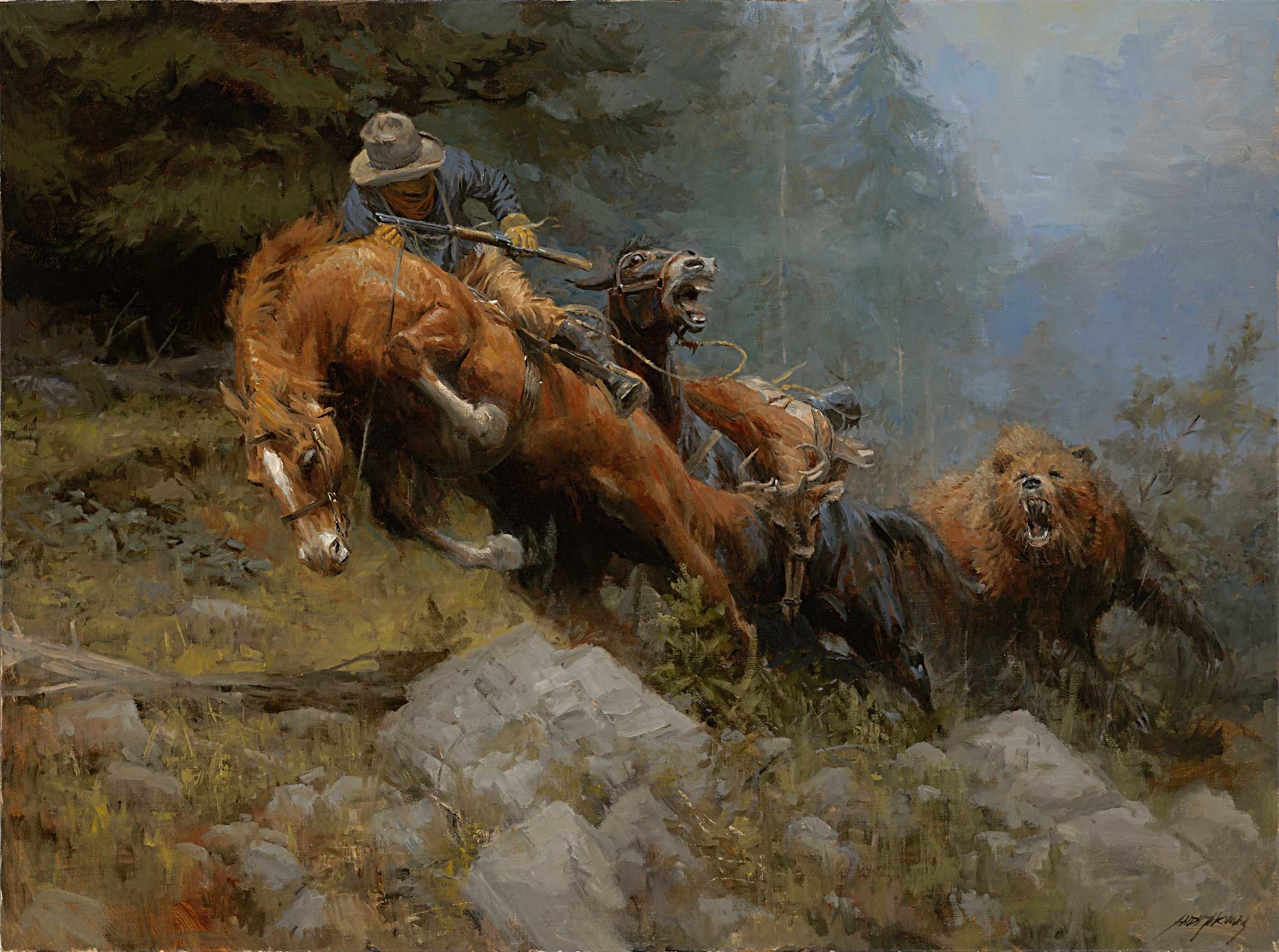 2016x1500 For anyone who played Red Dead Redemption this painting/wallpaper reminds  me of the northern