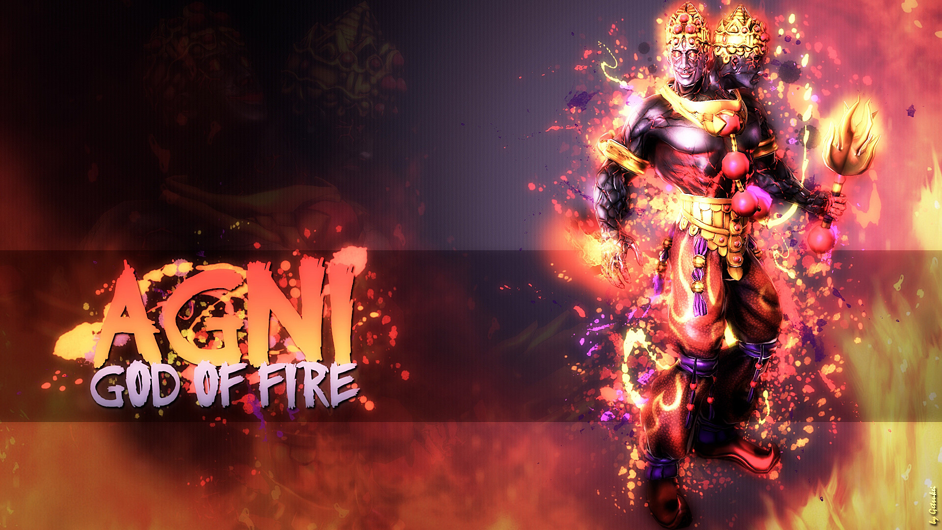 1920x1080 ... God of Fire - Wallpaper HD by Getsukeii