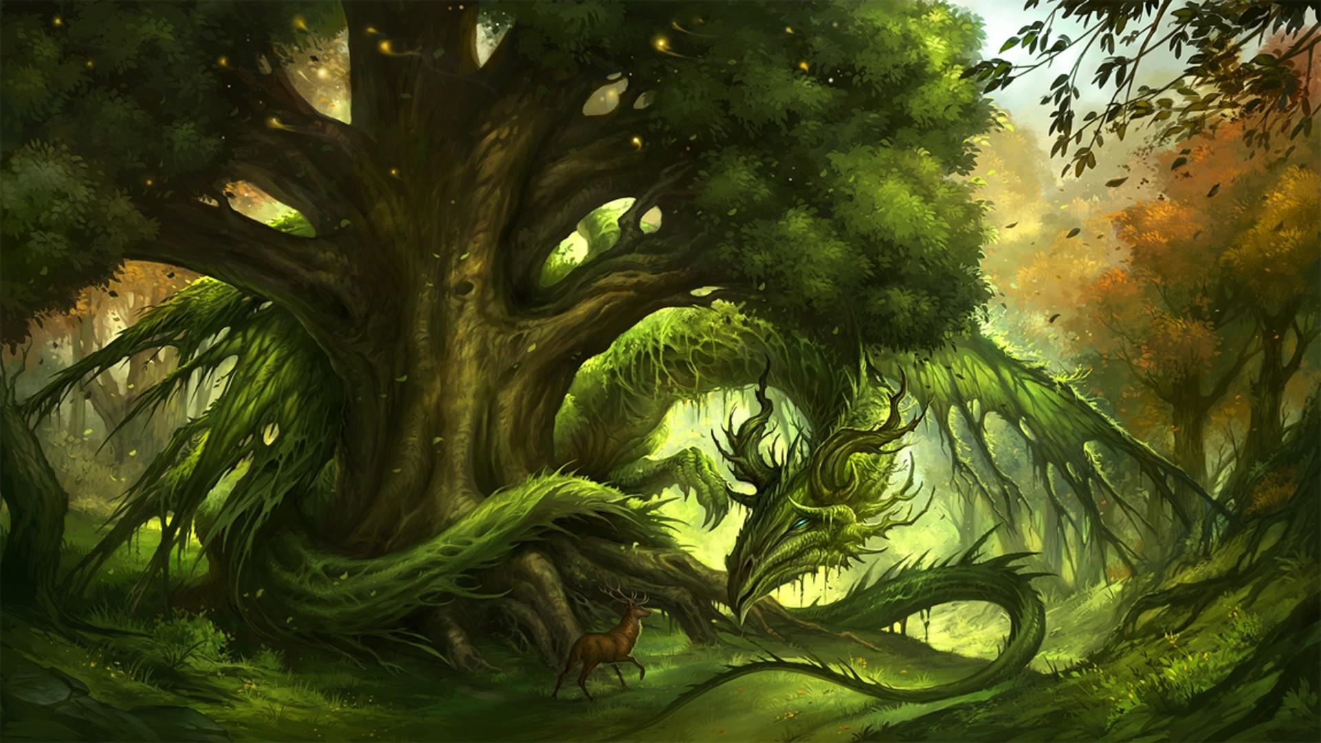 Great Wallpaper Dragon Green