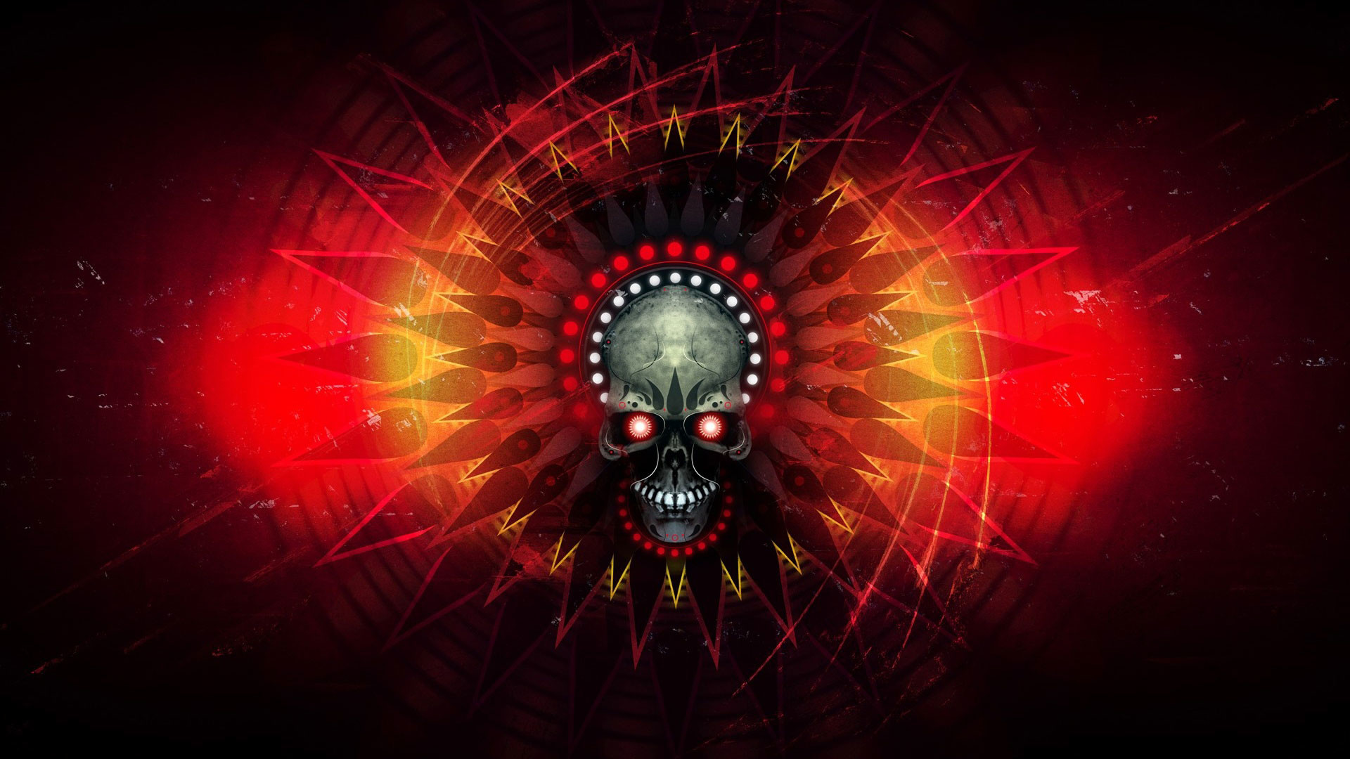 1920x1080 hd pics photos attractive skull danger red eye neon red abstract hd quality  desktop background wallpaper