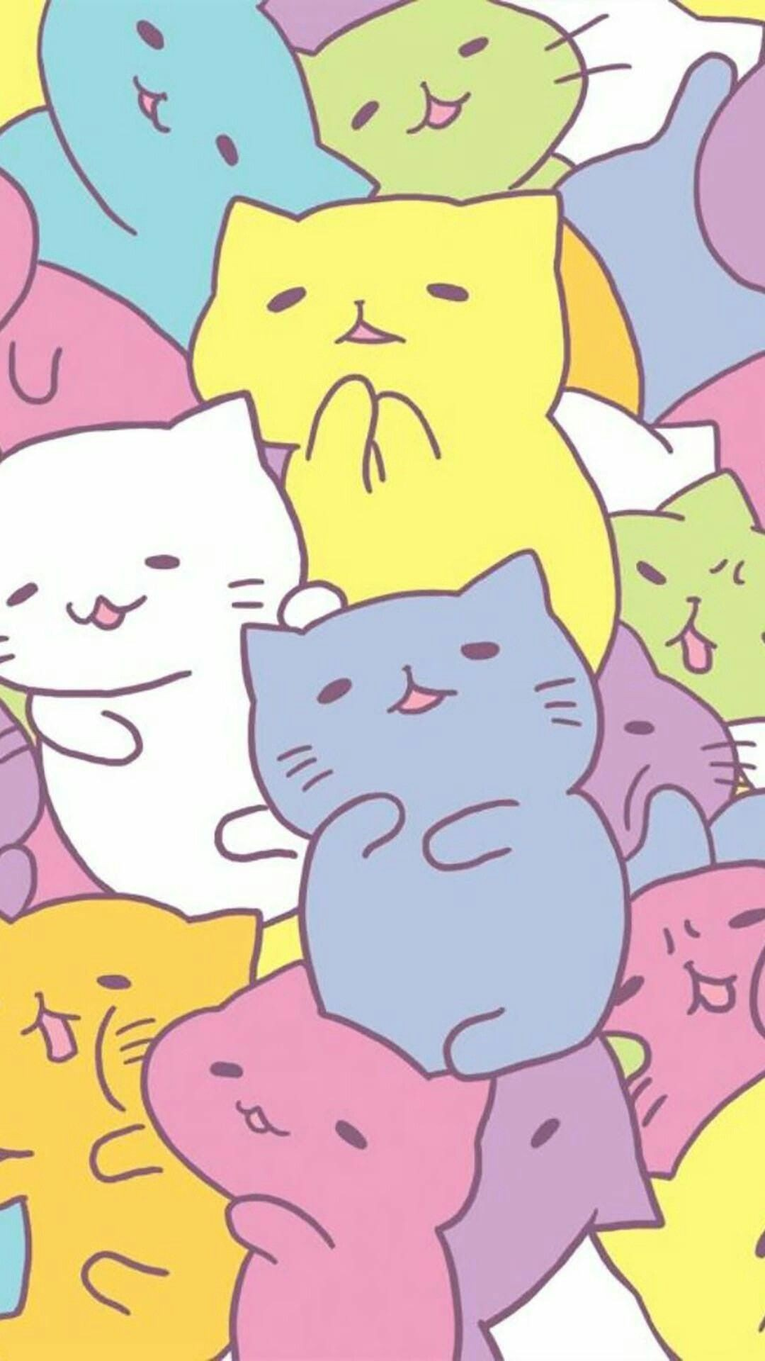 1080x1920 Pin By Esther On Cats Pinterest Kawaii Wallpaper And Cat 17 Cat Wallpaper
