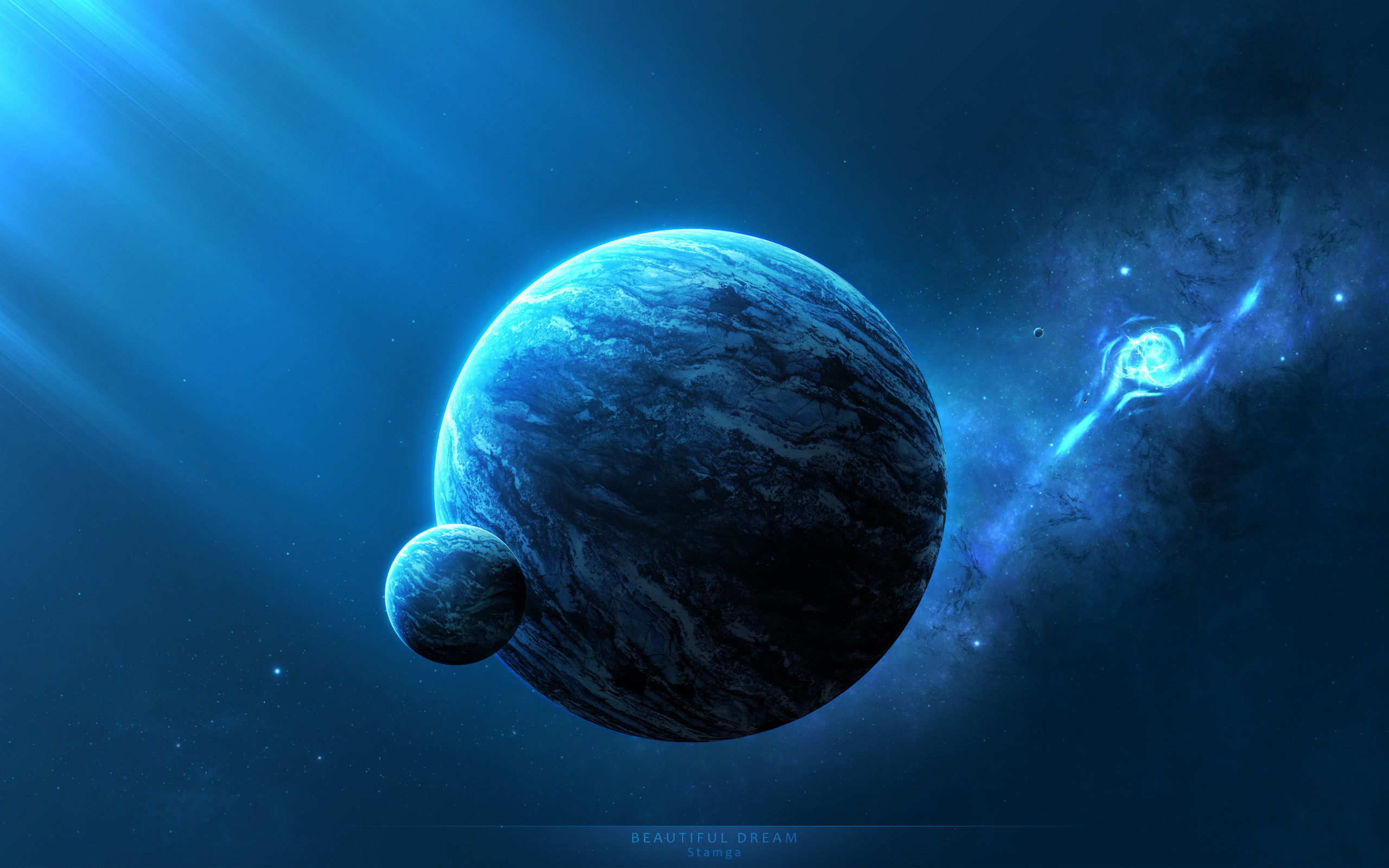 2560x1600 Universe, Earth, Space Fantasy, Galaxy, Marine Biology Wallpaper in   Resolution