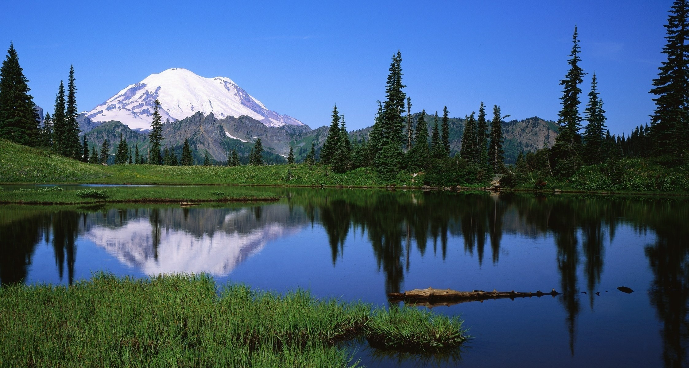 2245x1200 mount rainier washington usa desktop wallpaper Nature GoodWP