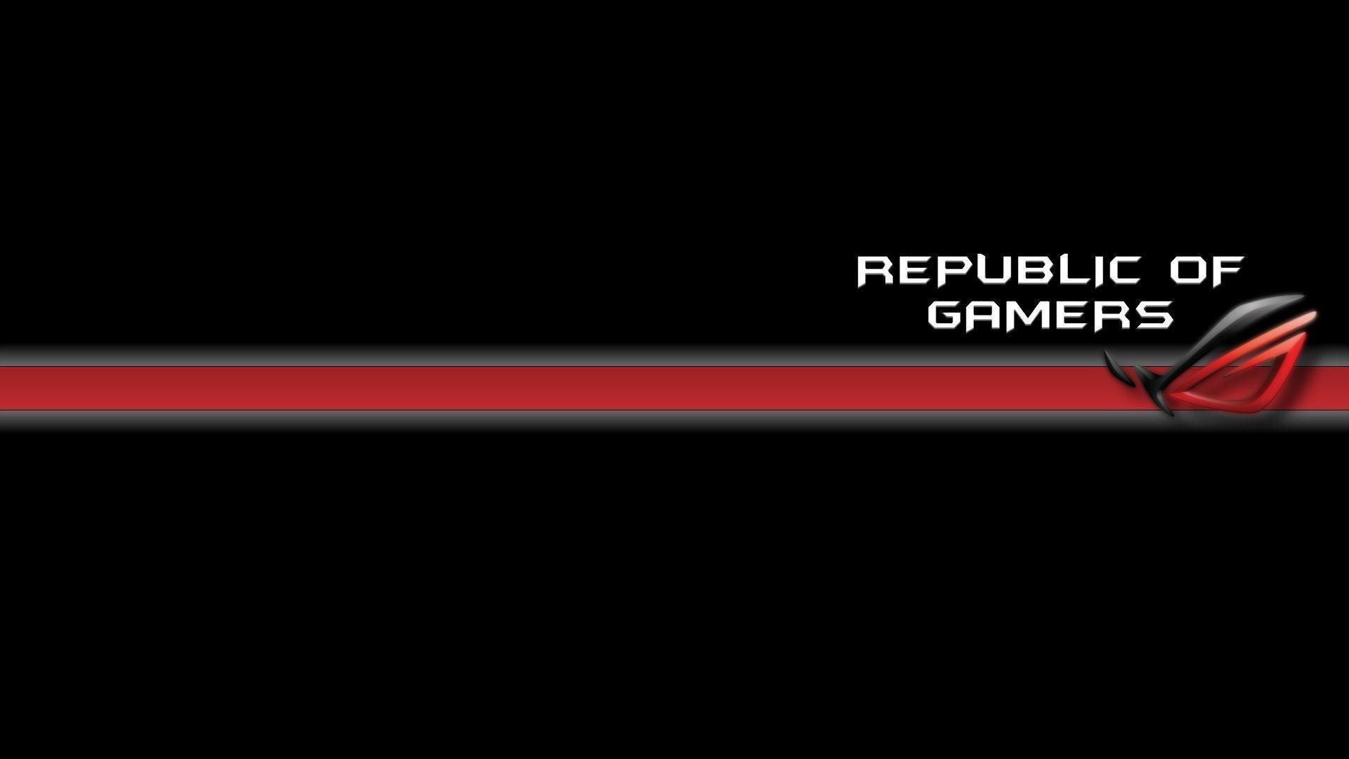 1920x1080 Minimalist Black And Red Asus RoG Wallpaper #1057 | TanukinoSippo.