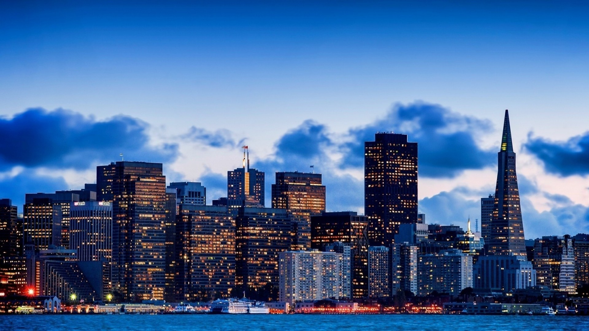 1920x1080 San Francisco Evening California Night Panorama Bay Skyscrapers City Lights  Best Wallpapers -