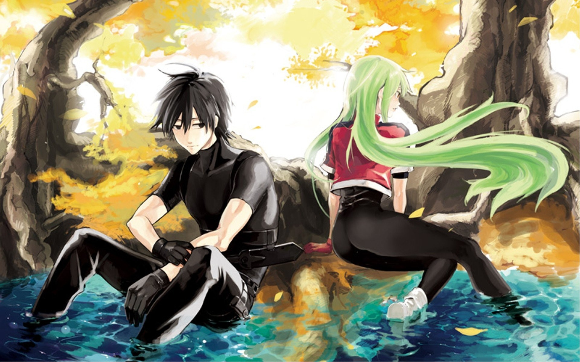 1920x1200 ... Darker than Black Image #737357 - Zerochan Anime Image Board ...