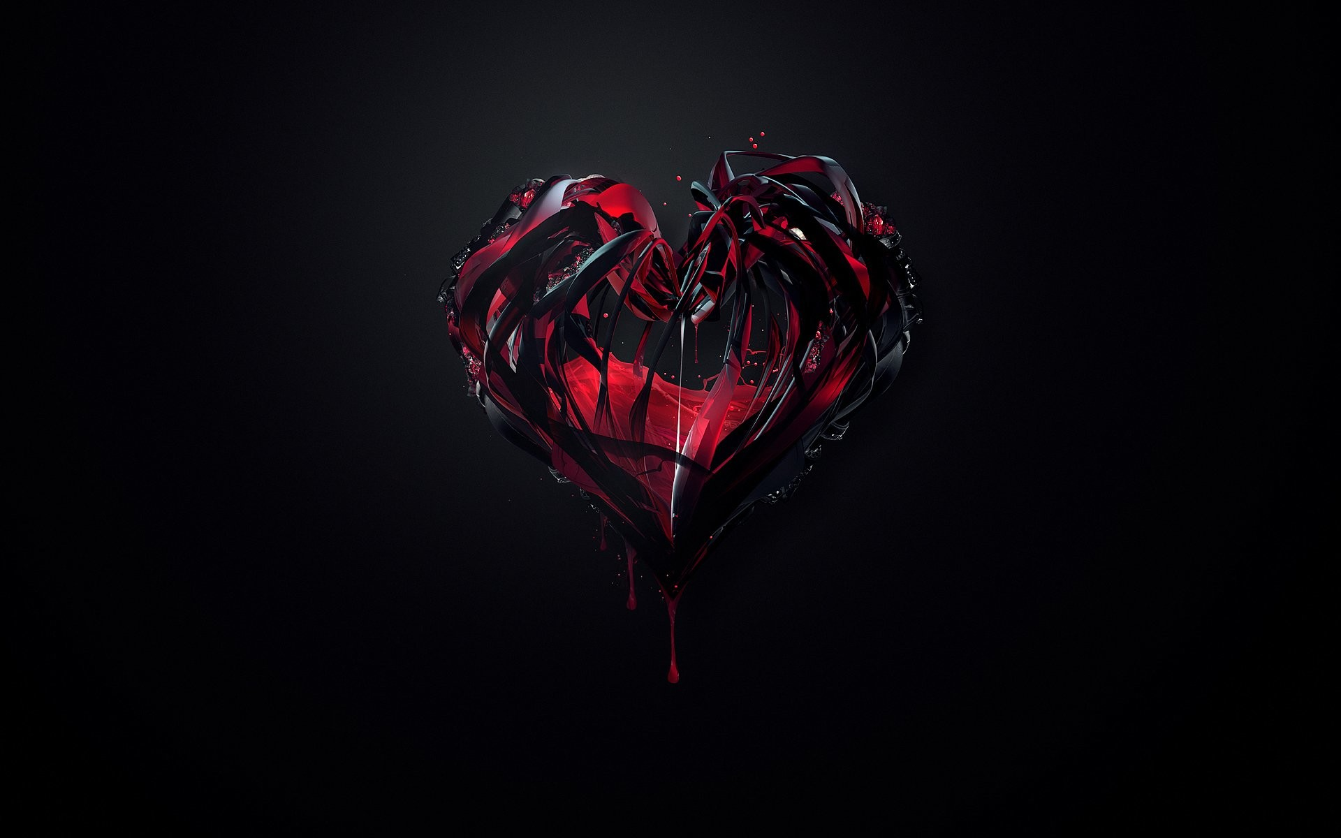 Black And Red >> Black And Red Heart Wallpaper 61 Images
