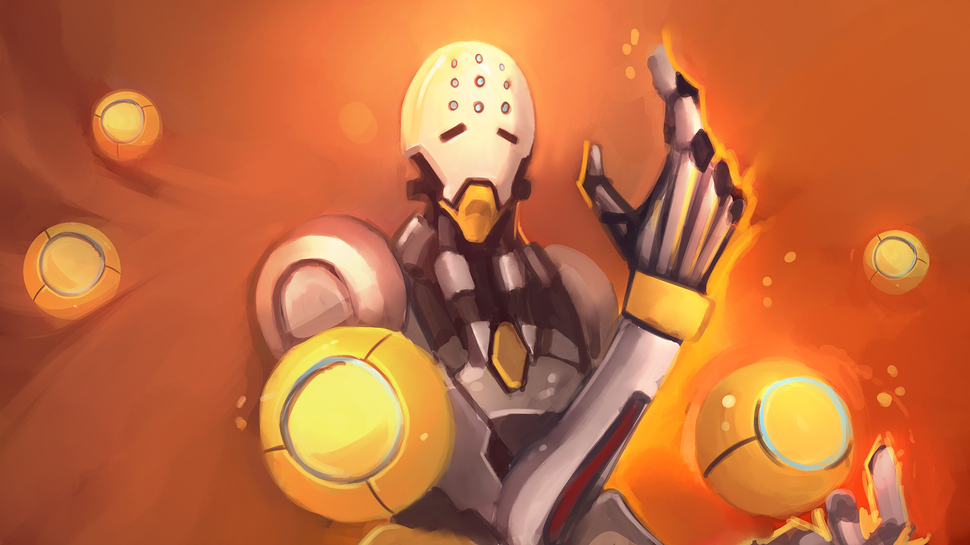 1920x1080 Video Game - Overwatch Zenyatta (Overwatch) Wallpaper