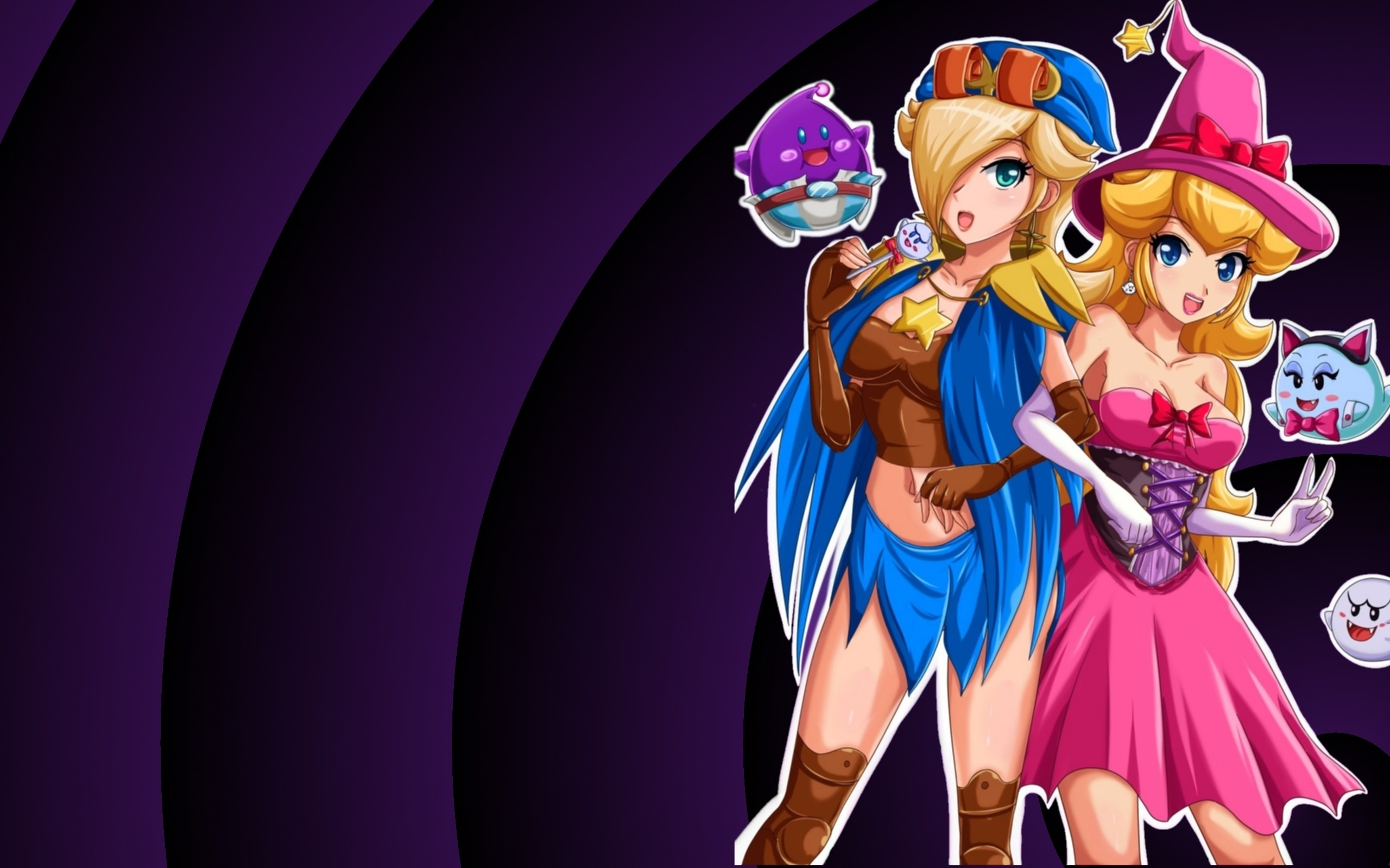 2560x1600 Mario peach rosalina wallpaper