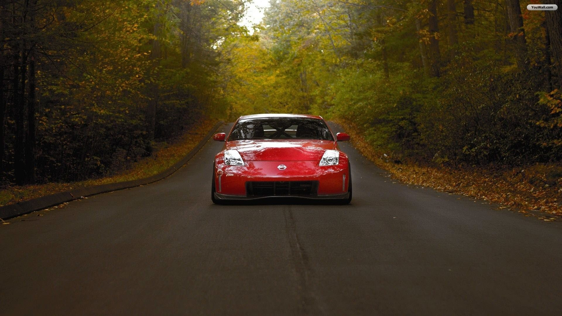 1920x1080 Red Nissan 350Z Wallpaper
