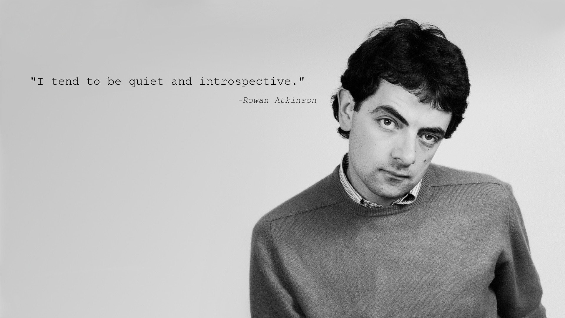 1920x1080 Quotes Monochrome Rowan Atkinson ...