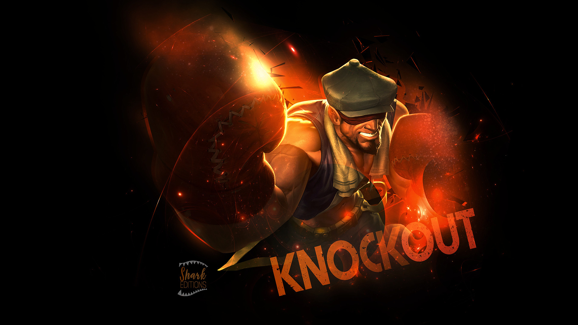 1920x1080 ... Knockout Lee Sin wallpaper League of Legends by LeftLucy