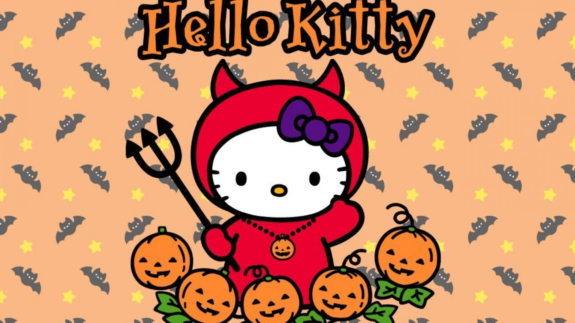 1920x1080 Hello Kitty Halloween Wallpaper Download Free.