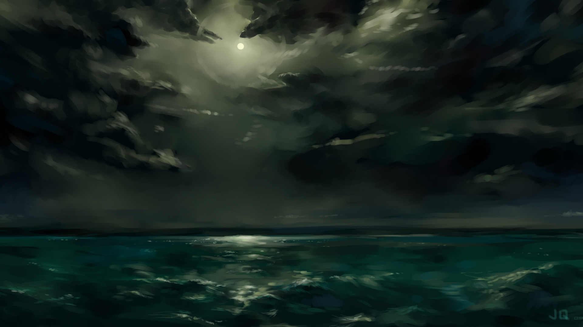 1920x1080 Clouds night storm sea wallpaper |  | 217848 | WallpaperUP