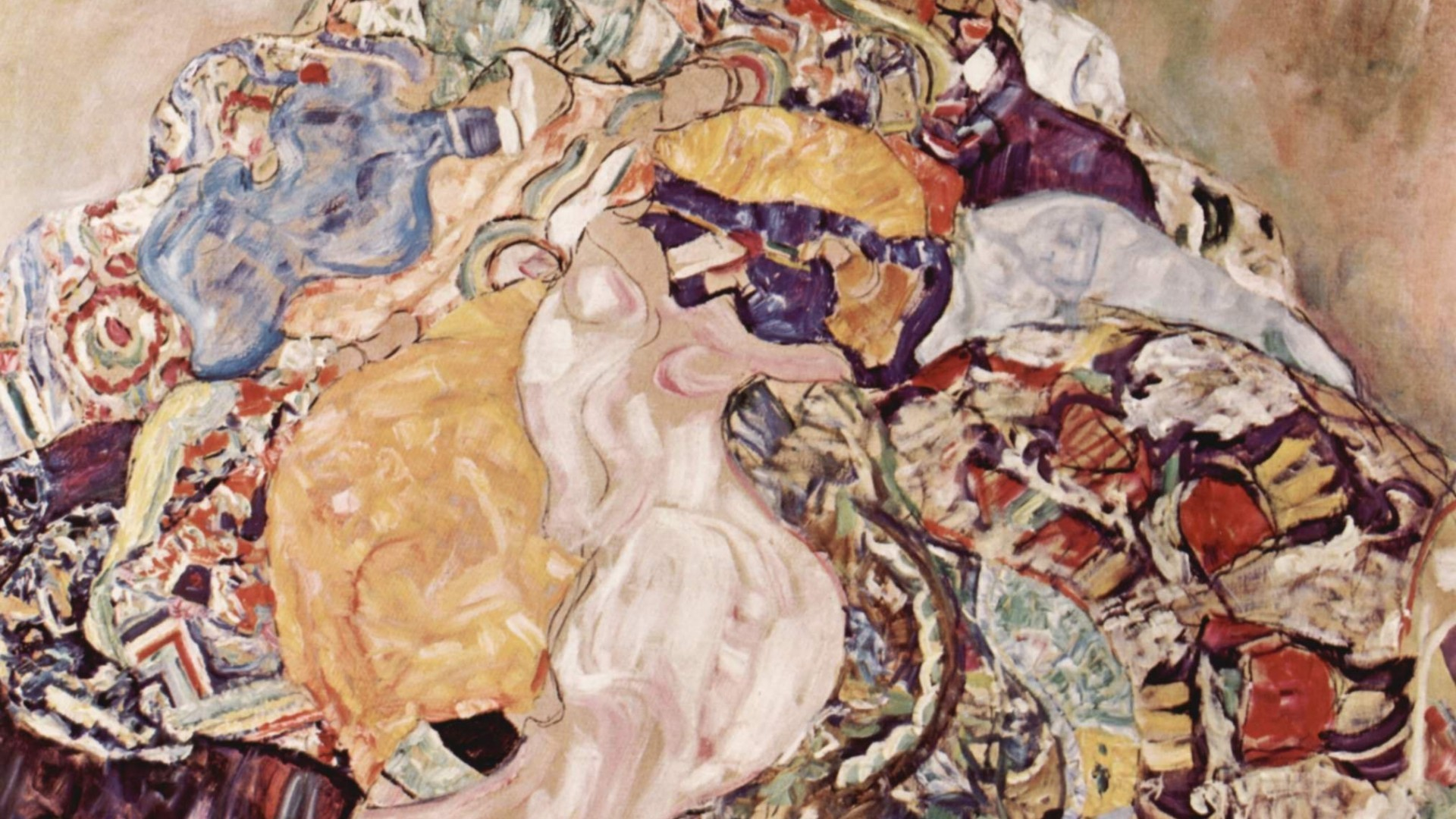 1920x1080 Painting of Gustav Klimt - Mess