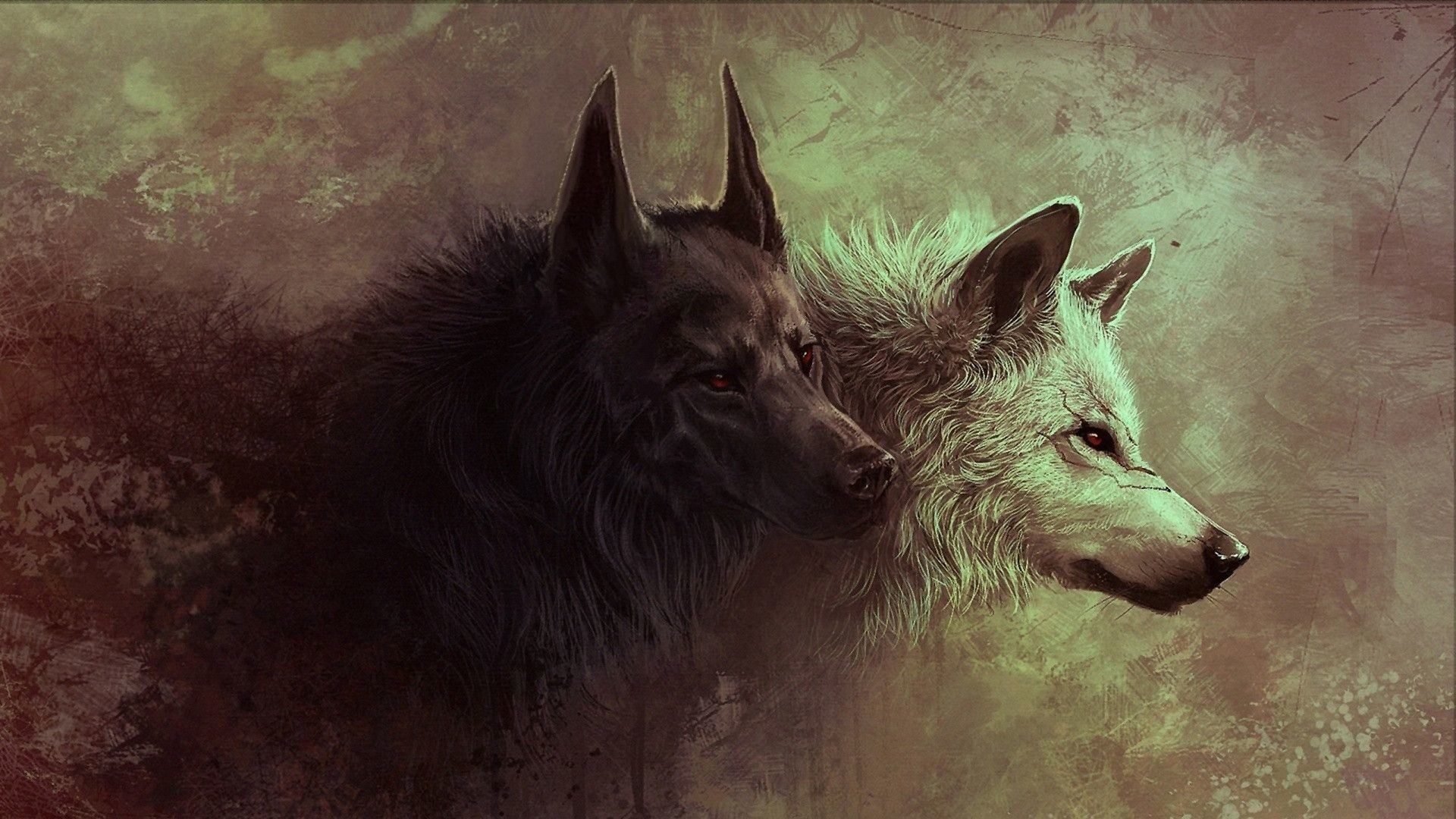 1920x1080 Wolf Art Wallpaper