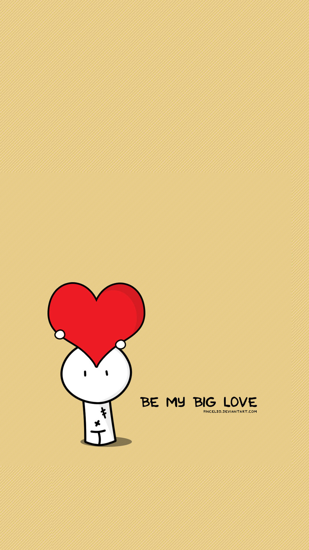 1080x1920 Be My Big Love Valentines Illustration #iPhone #6 #plus #wallpaper