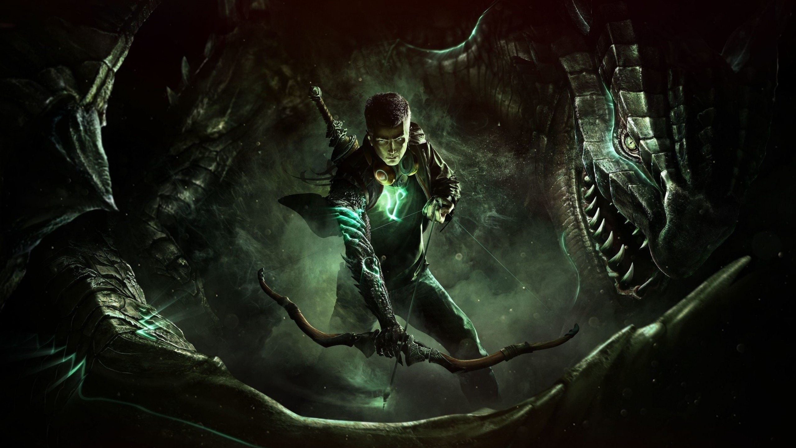 2560x1440  Wallpaper scalebound, character, platinum games