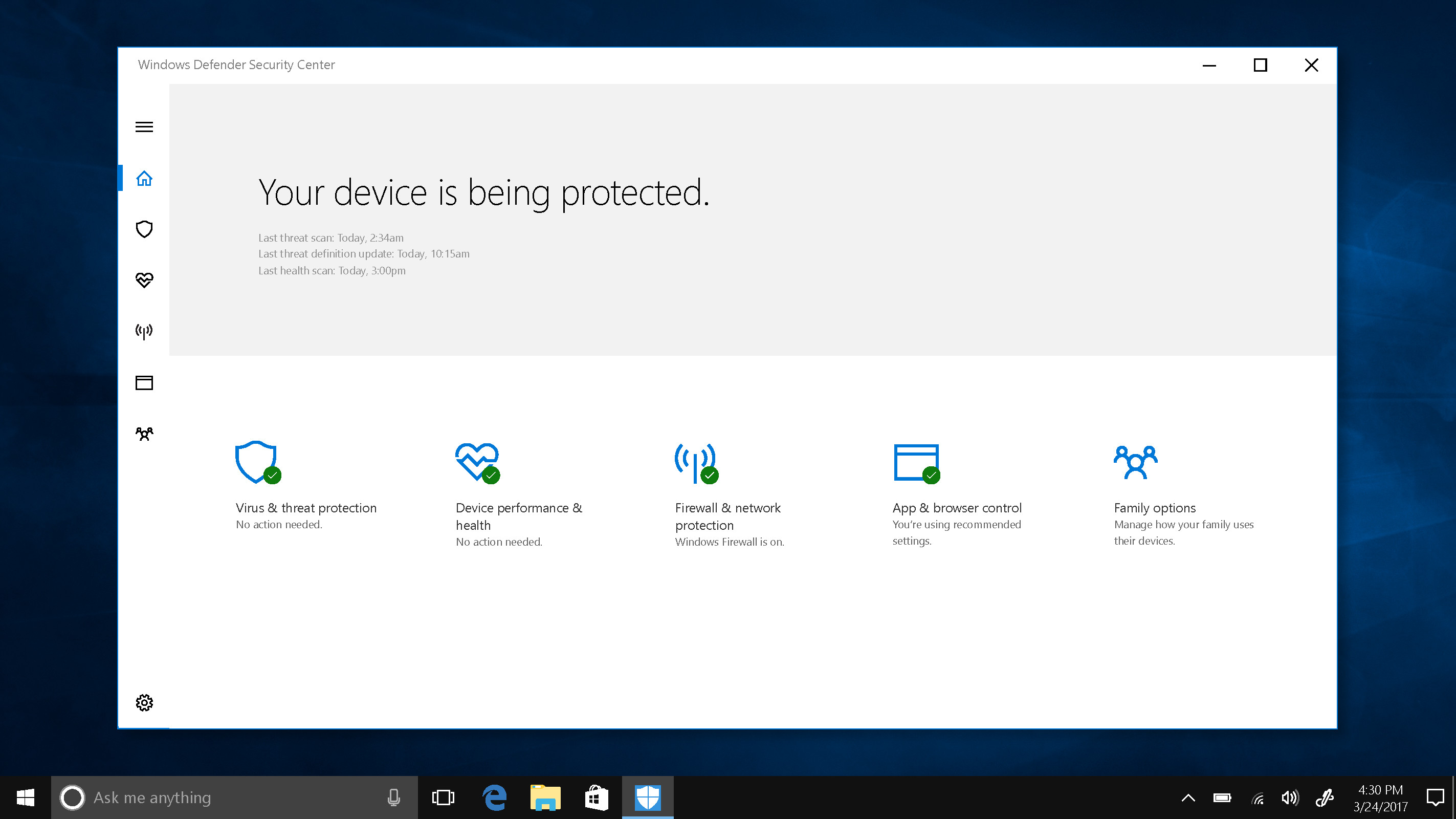 2846x1600 The new Windows Defender Security Center dashboard coming with the Windows  10 Creators Update gives you