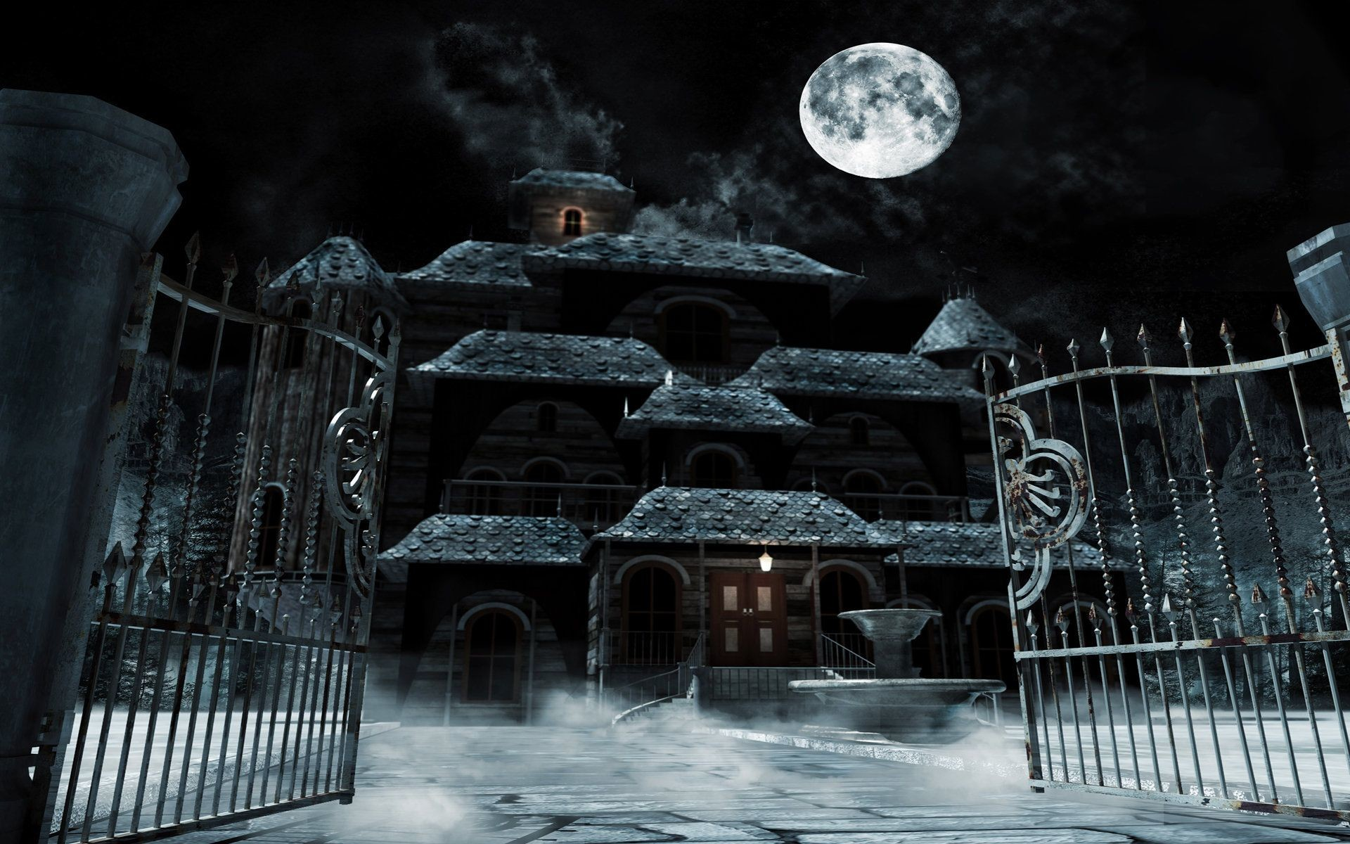 1920x1200 Haunted House Wallpapers