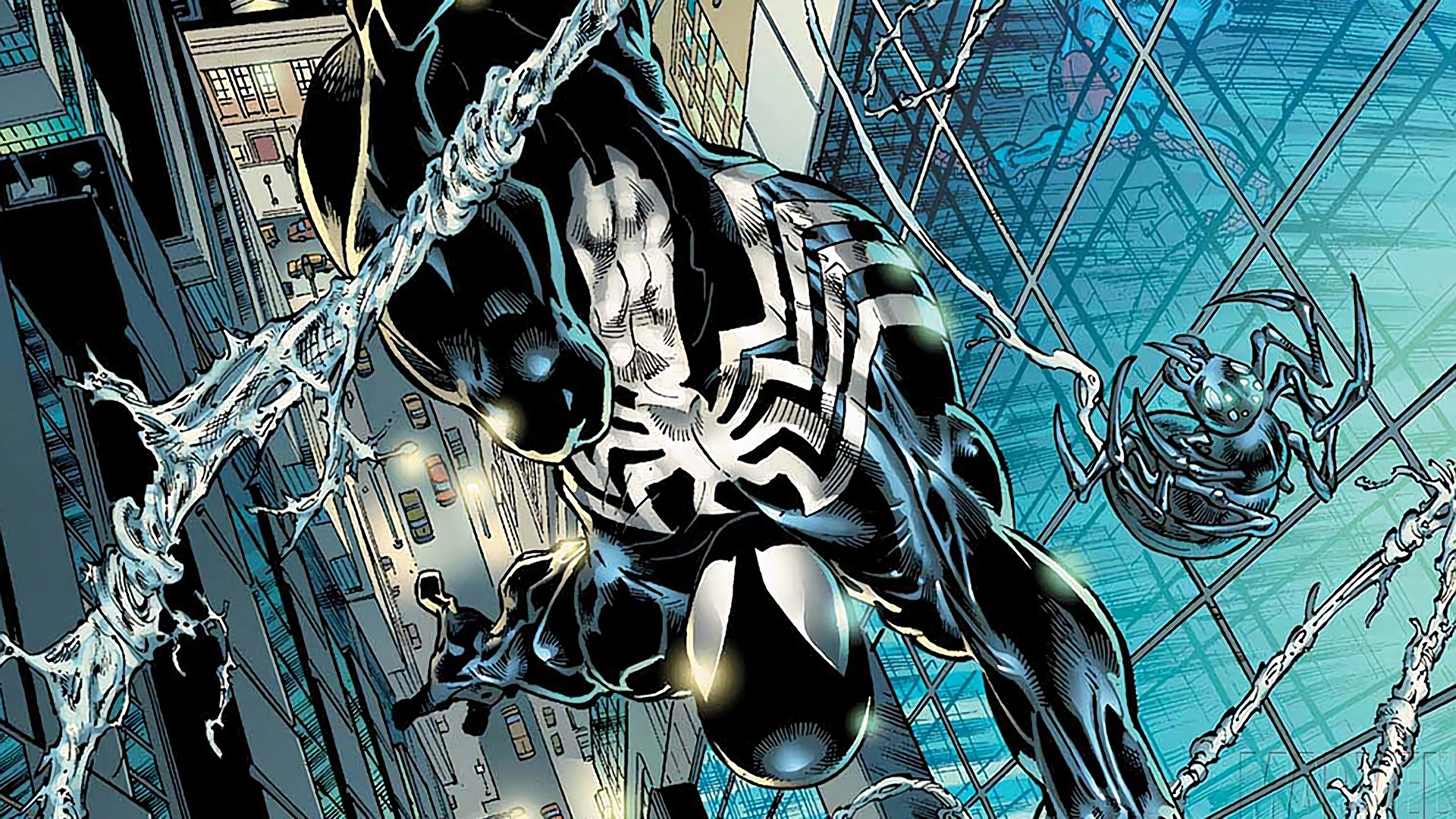 Black suit spiderman wallpaper 75 images - Black and white spiderman wallpaper ...