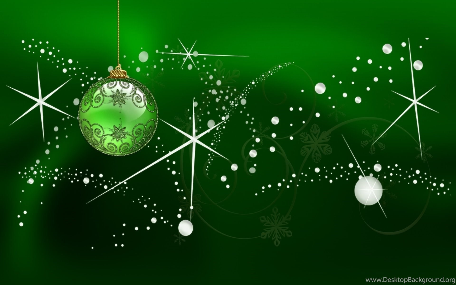 1920x1200 widescreen - Dark Green Christmas Background