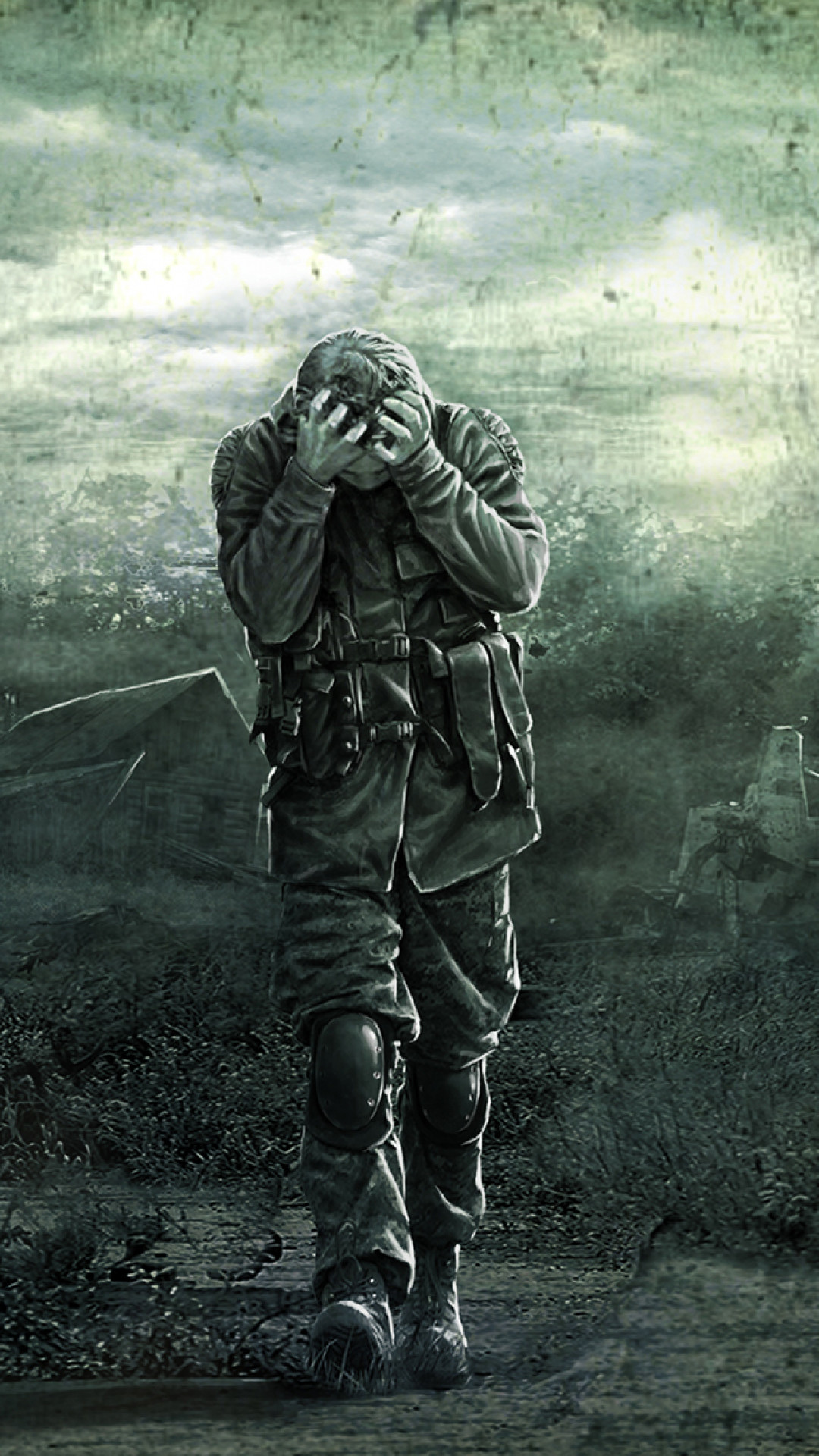 1080x1920  Wallpaper stalker, pripyat, art, soldiers