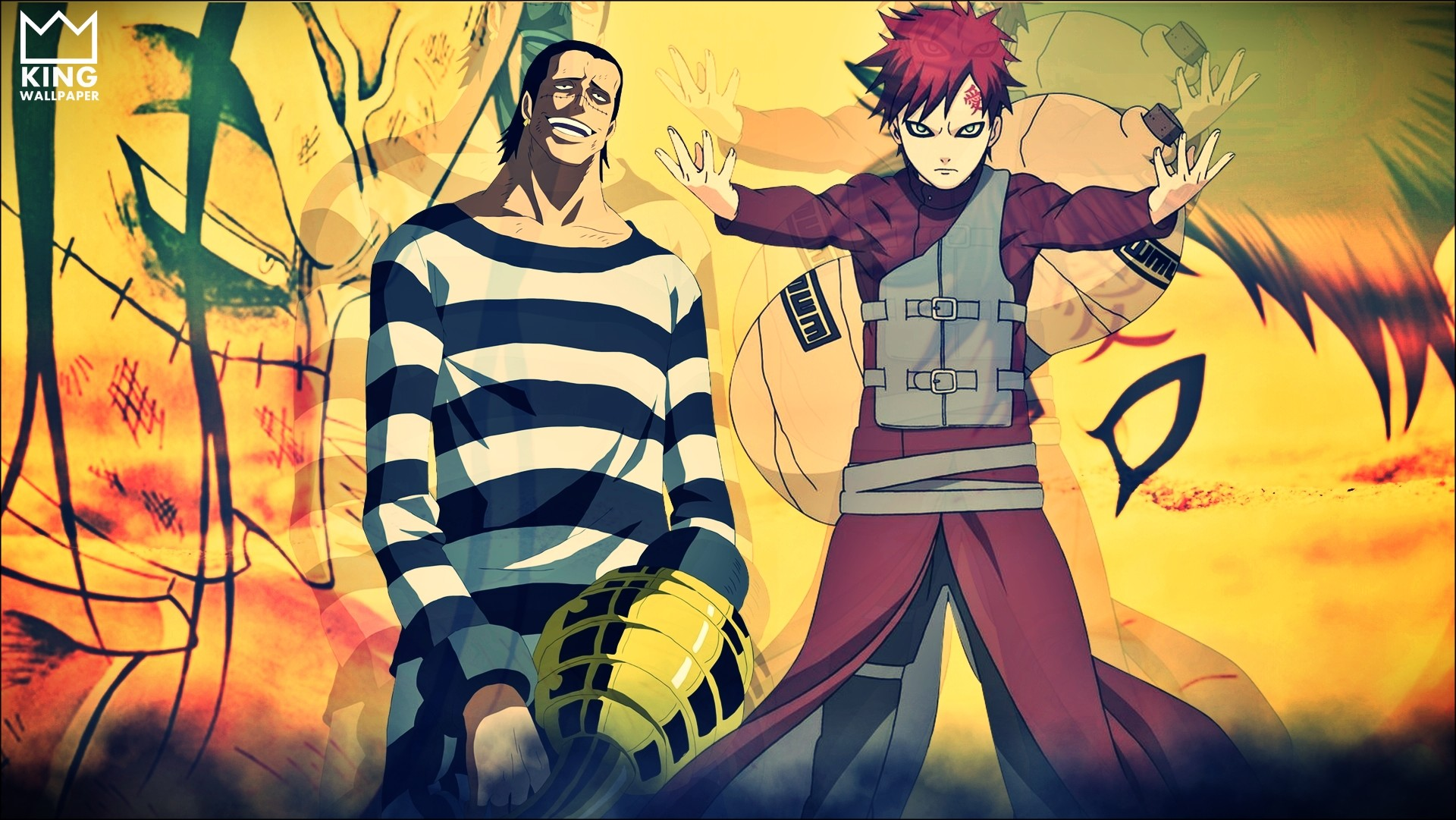 1920x1081 Crocodile x Gaara Wallpaper by Kingwallpaper Crocodile x Gaara Wallpaper by  Kingwallpaper
