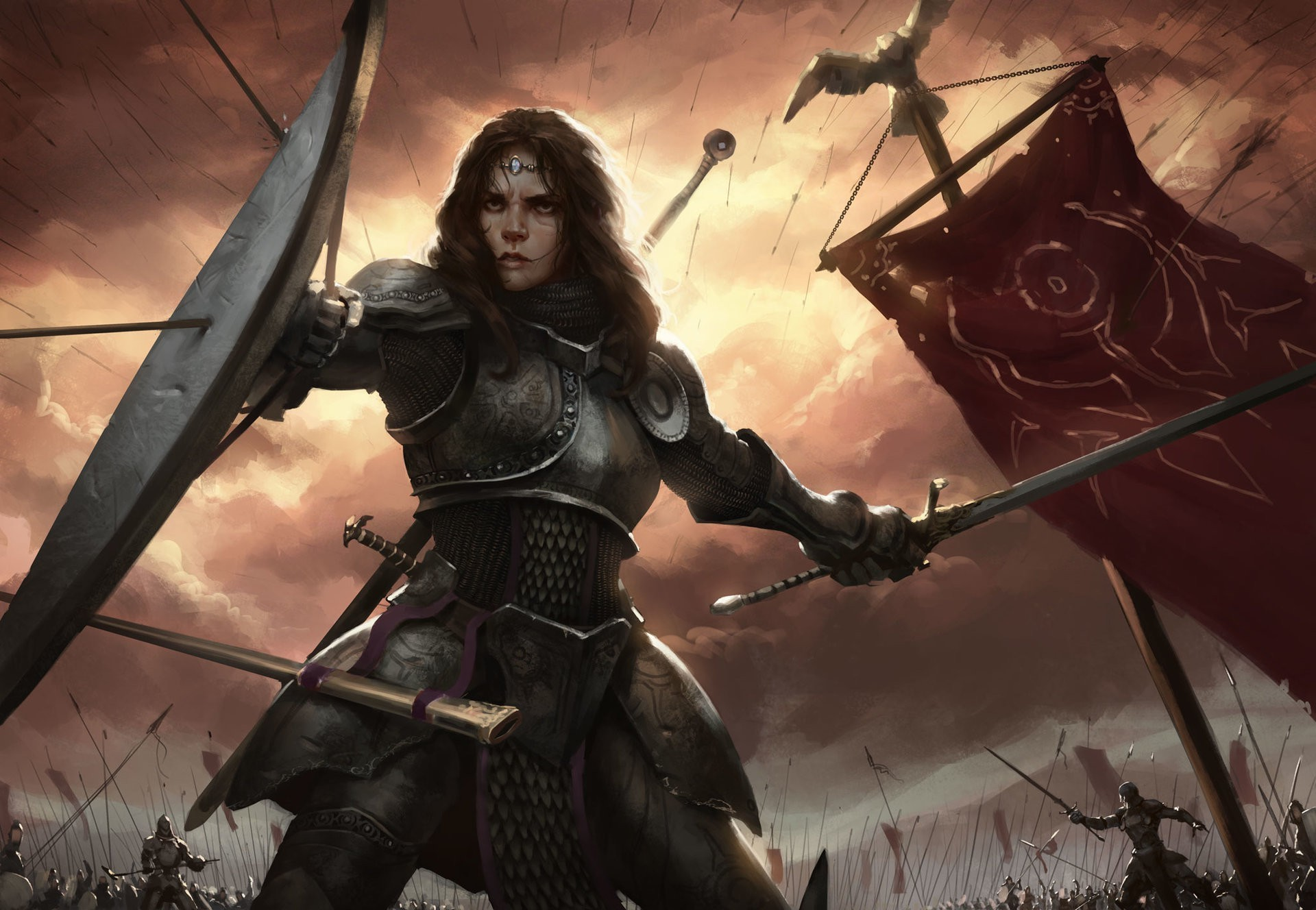 Warrior | Fantasy female warrior, Fantasy character design