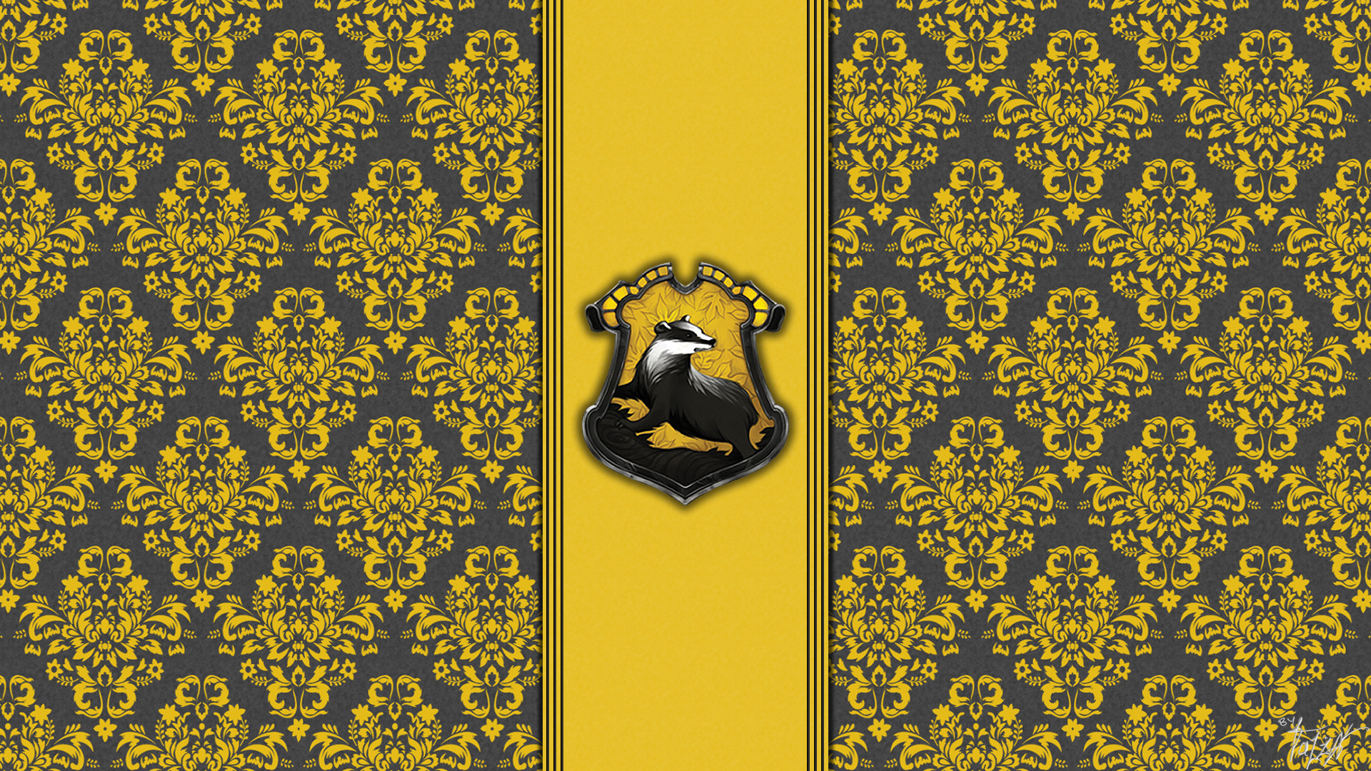 1920x1080 House hufflepuff wallpaper hogwarts paper art theladyavatar | Harry Potter  | Pinterest | Colors, Paper and Desktop wallpapers
