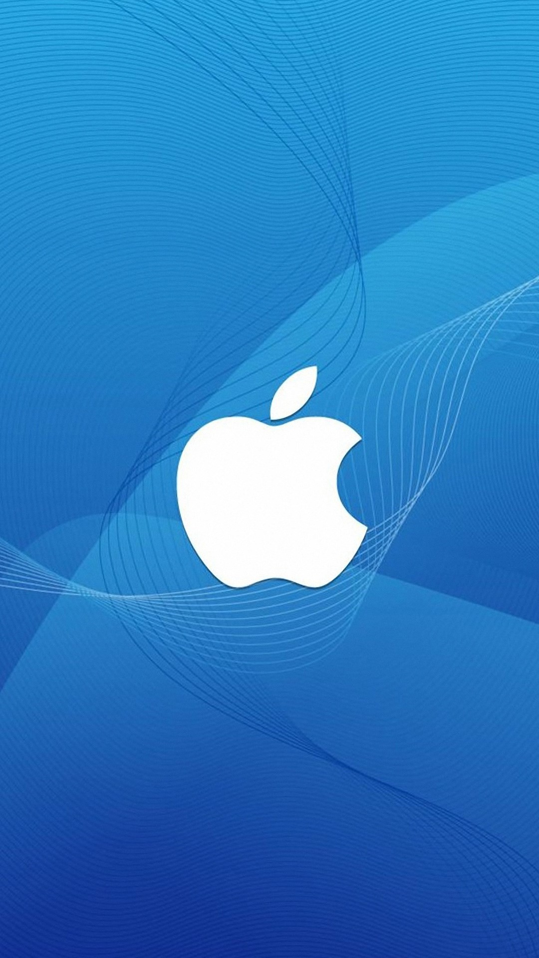1080x1920 blue apple logo wallpaper for iphone