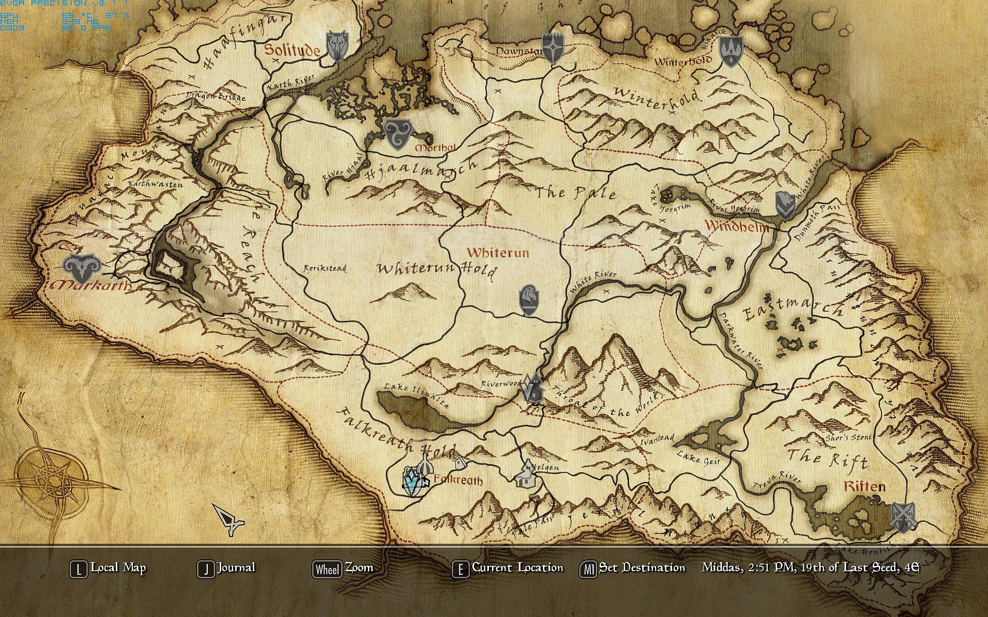 1920x1200 Specific] Can Someone Make This Map Of Tamriel A 1920x1080 .