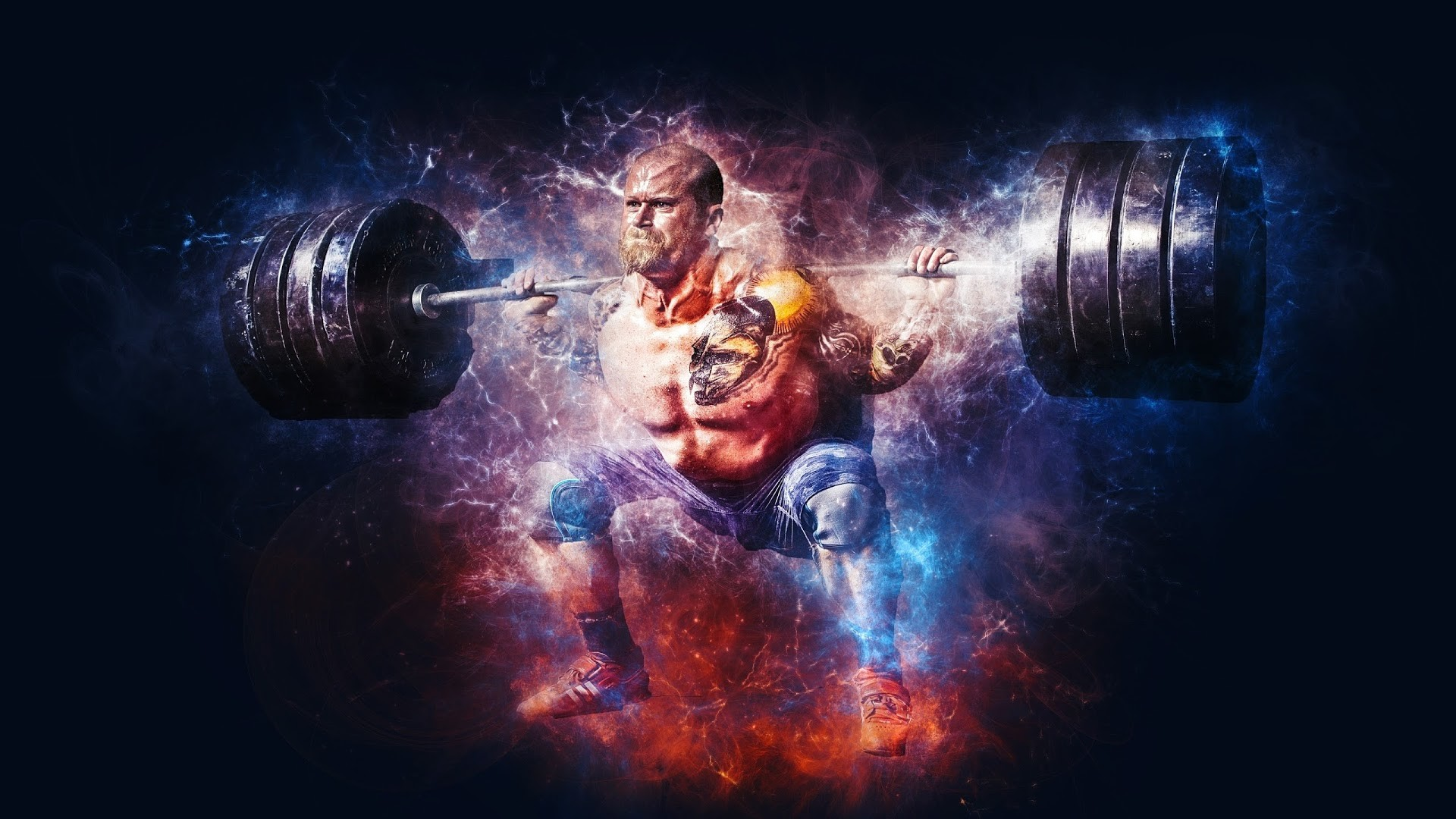 1920x1080 4K HD Wallpaper: Weightlifting at Gym · Photoshop Creativity with  Bodybuilding in this Premium Picture